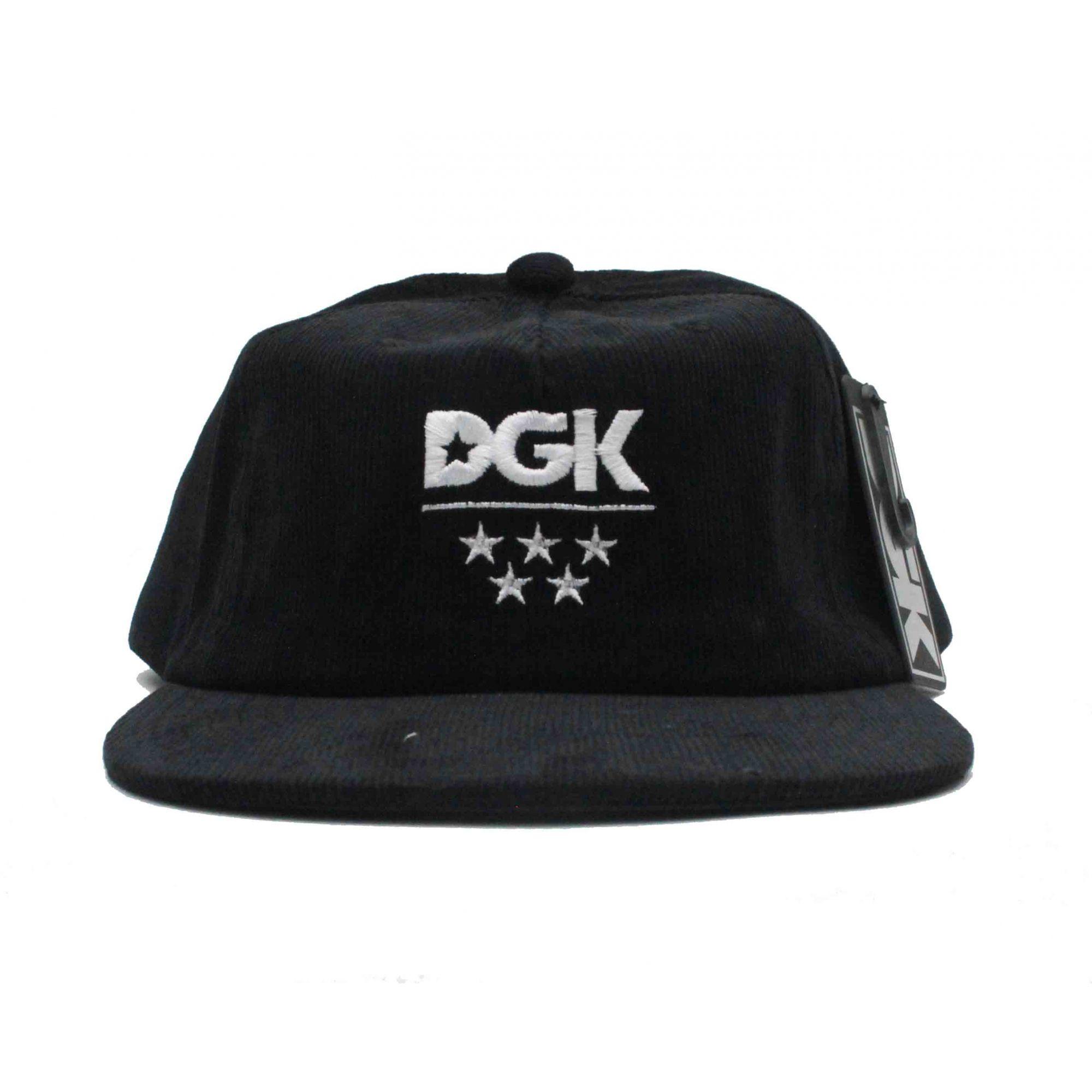 Boné DGK Snapback Major Black