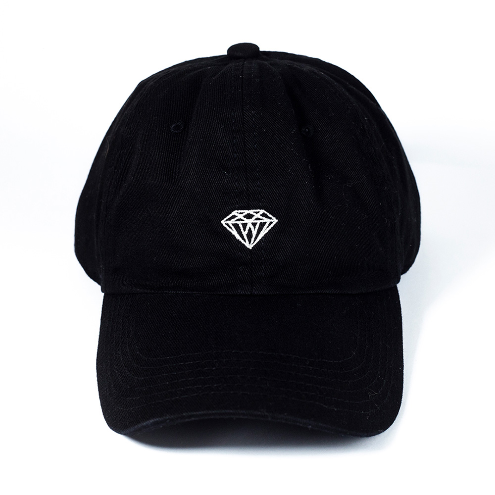 Boné Diamond Dad Hat Micro Brilliant - Preto/Branco
