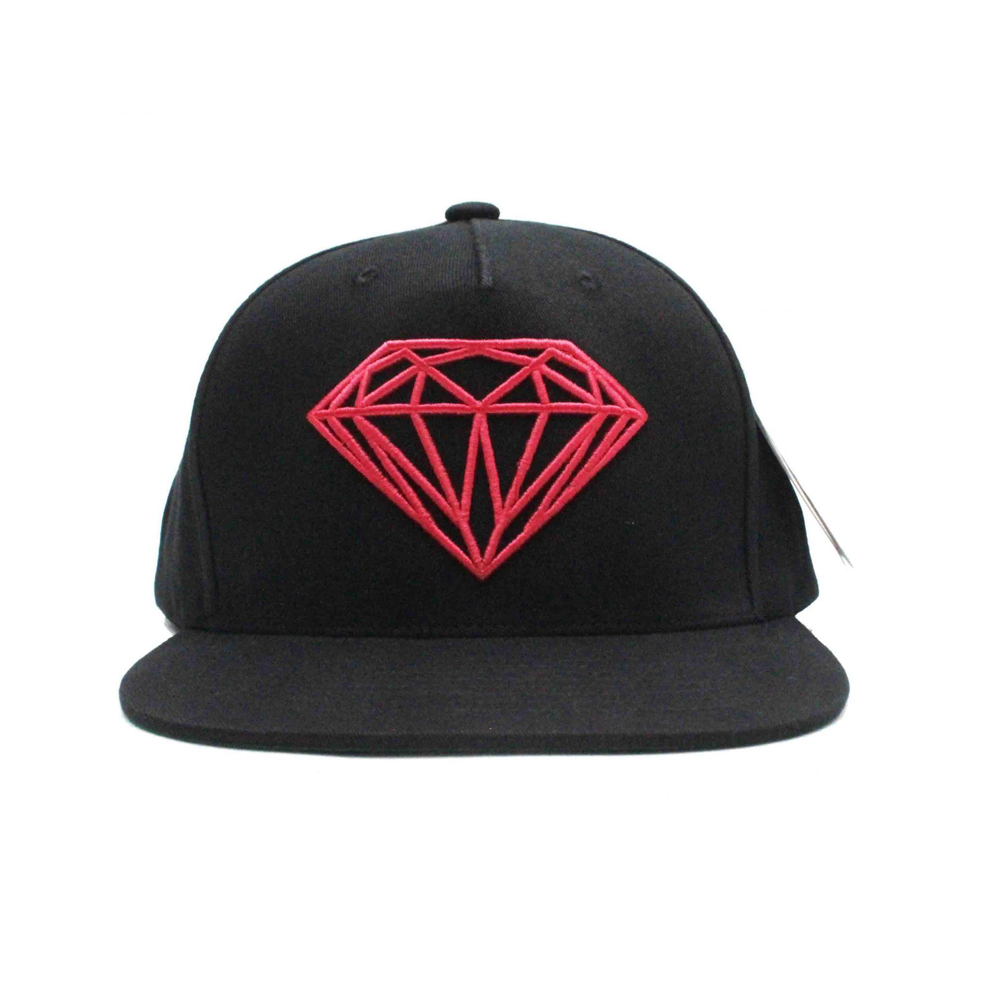 Boné Diamond Snapback Brilliant - Preto