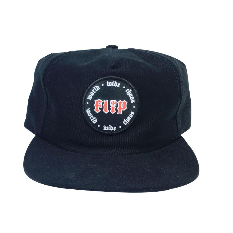 Boné Flip Five Panel WWC Dad Americano Preto