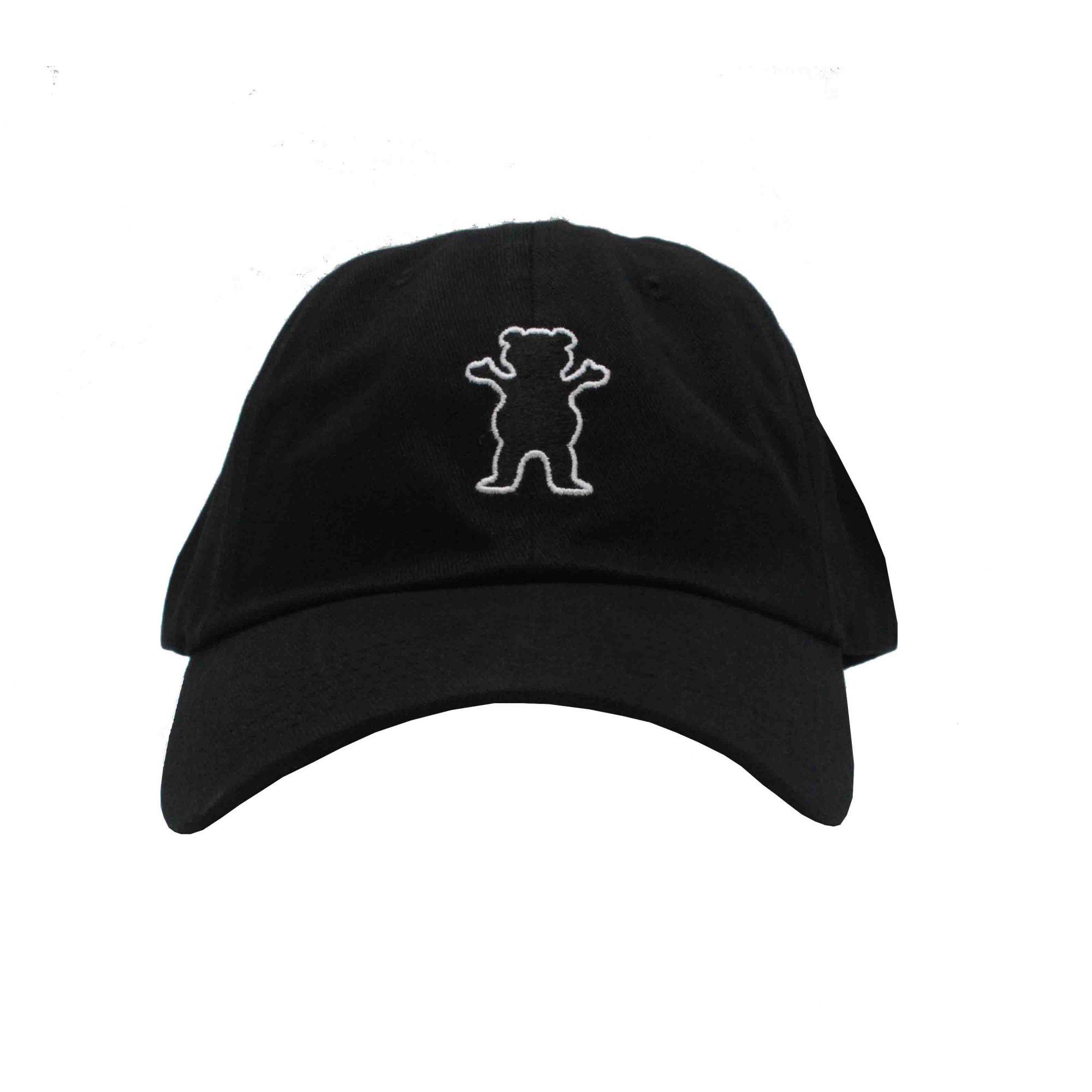 Boné Grizzly Dad Hat OG Bear - Preto