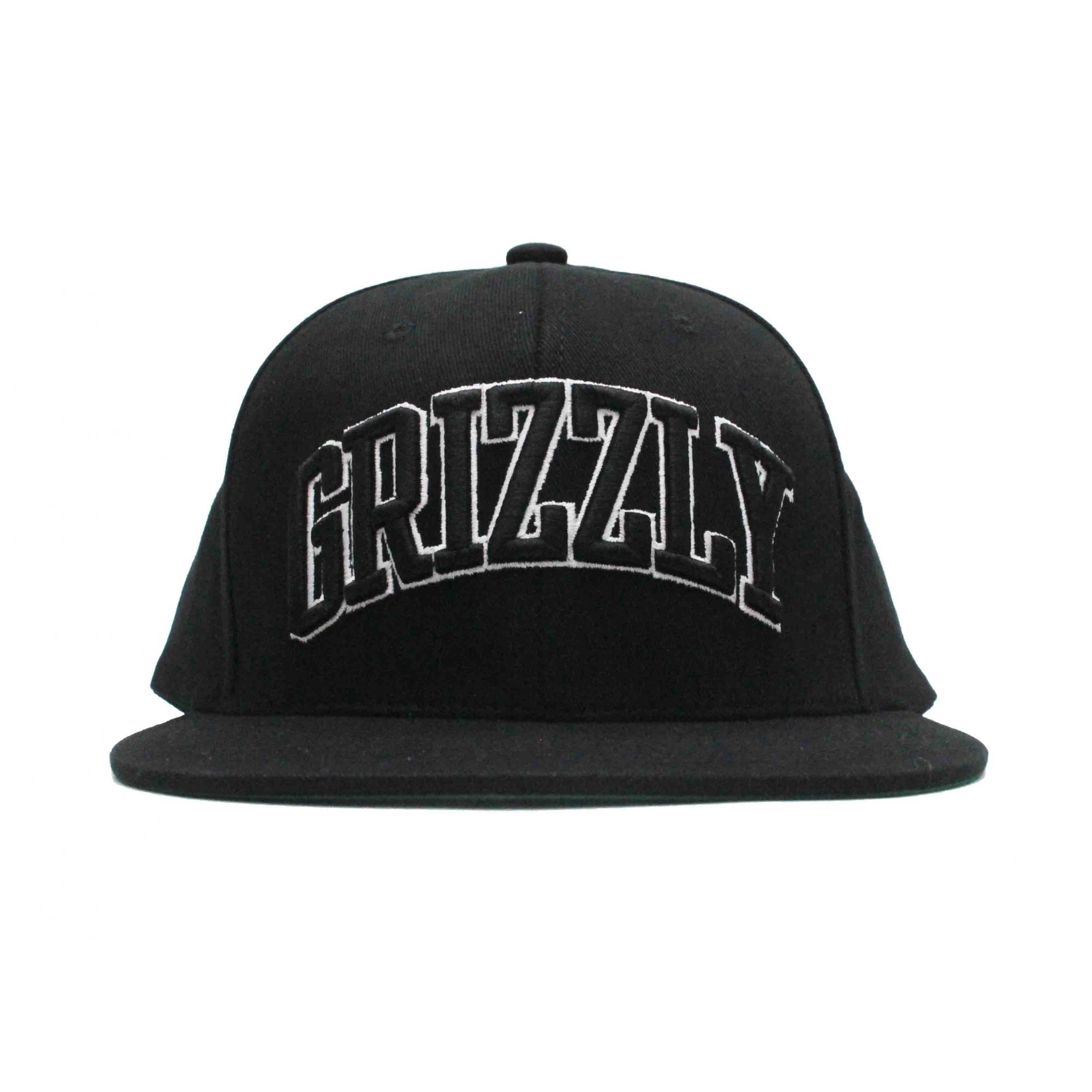 Boné Grizzly Snapback Top Team - Preto