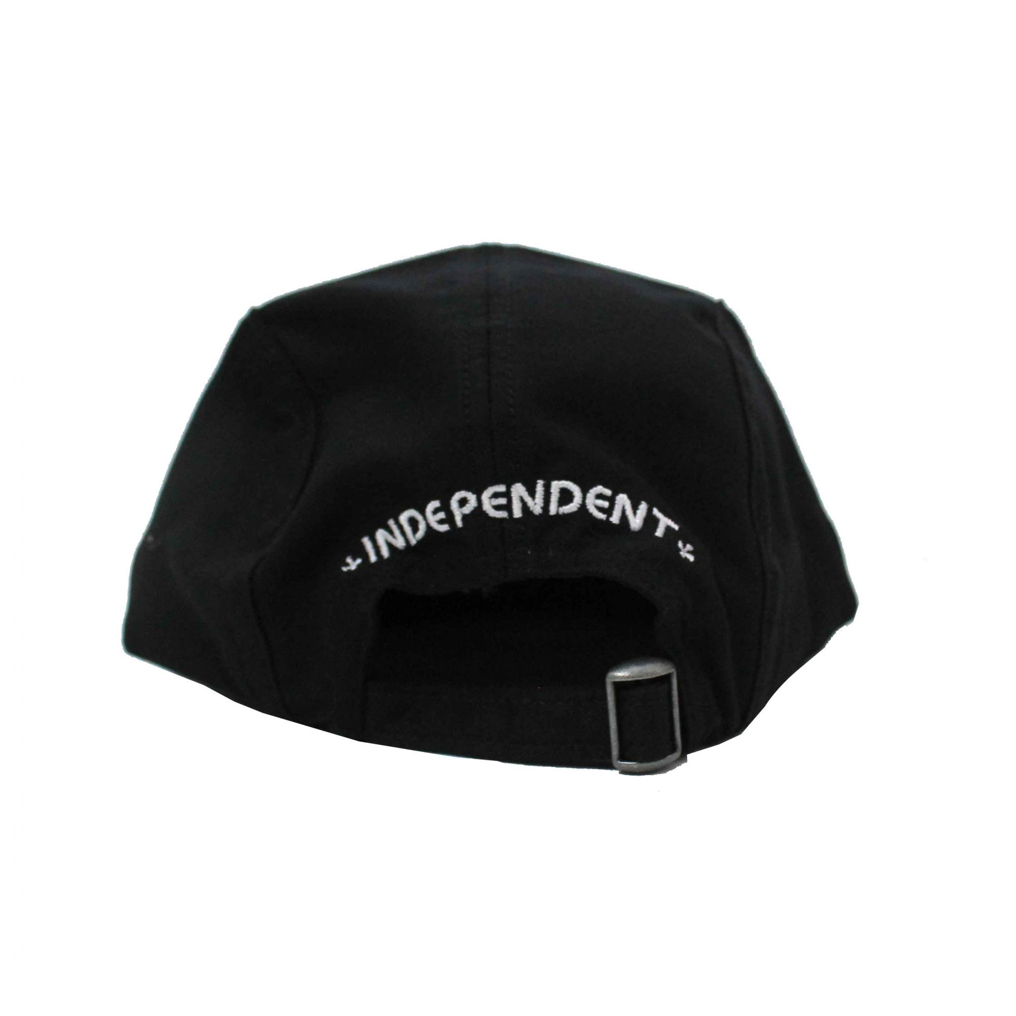 Boné Independent Five Panel Cross Label Black