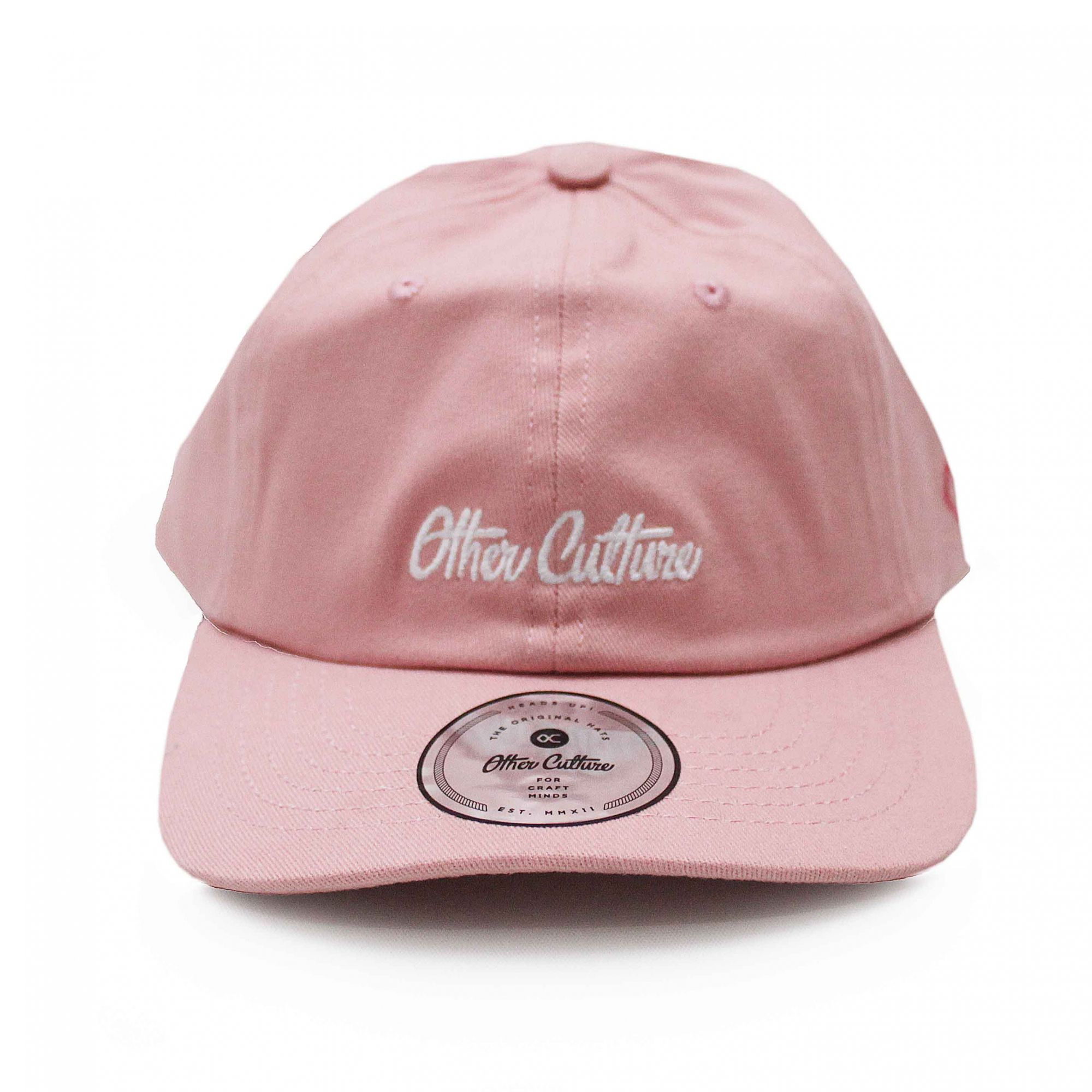 Boné Other Culture Dad Hat Basic Signature Rosa Claro