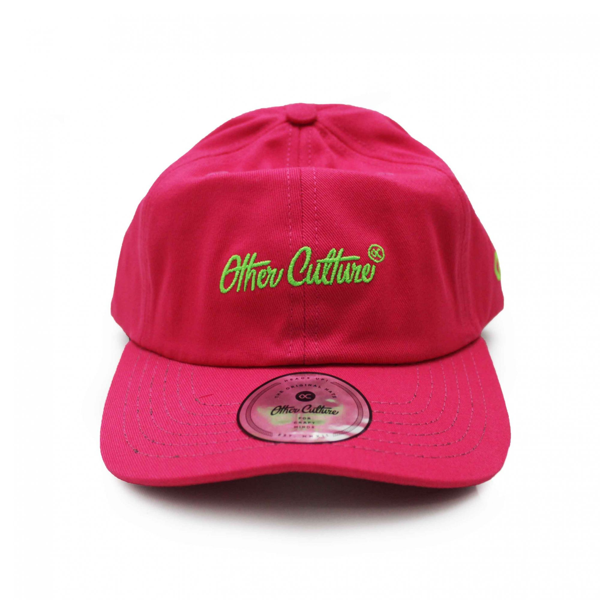 Boné Other Culture Dad Hat Basic Signature Rosa Neon