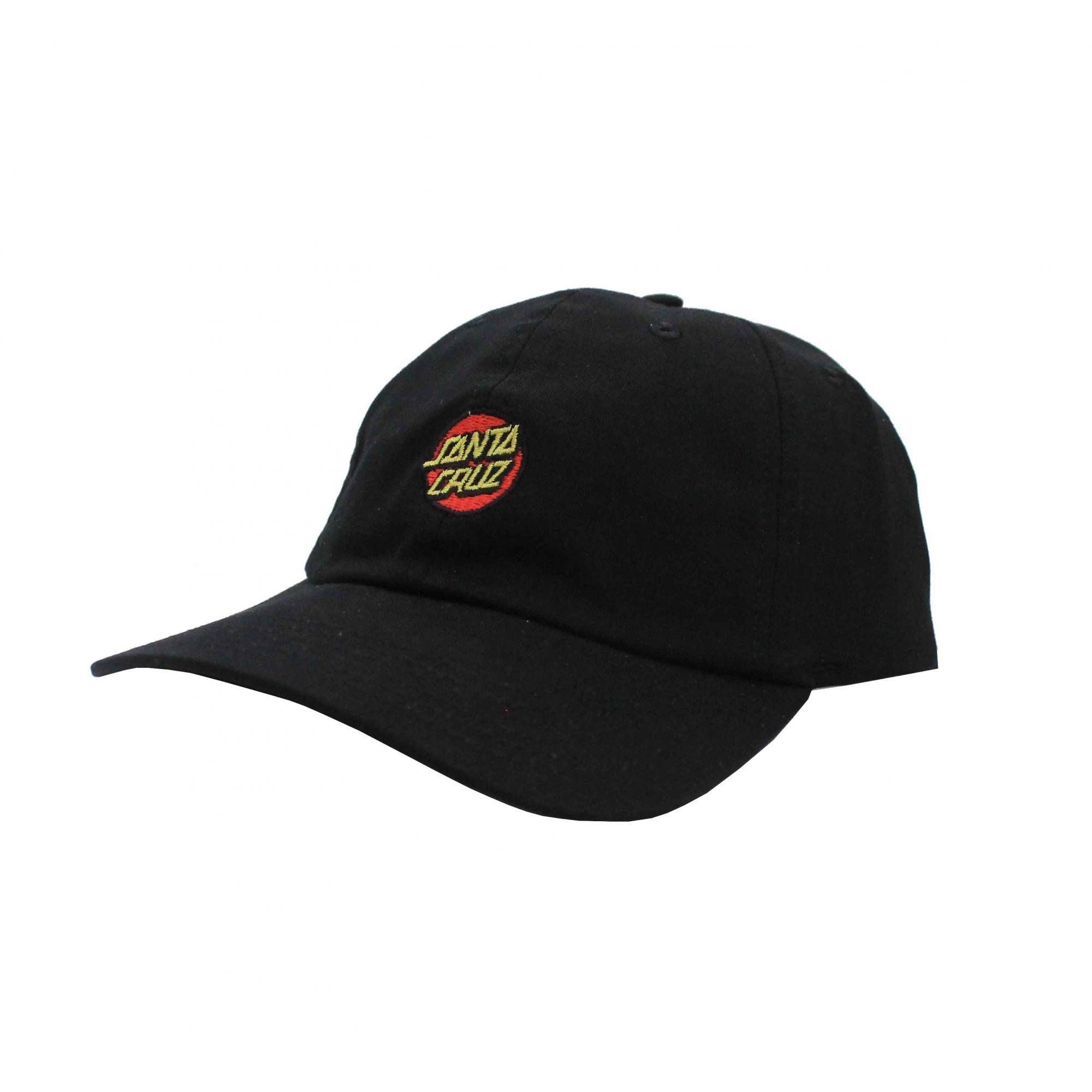 Boné Santa Cruz Dad Hat Classic Dot - Preto