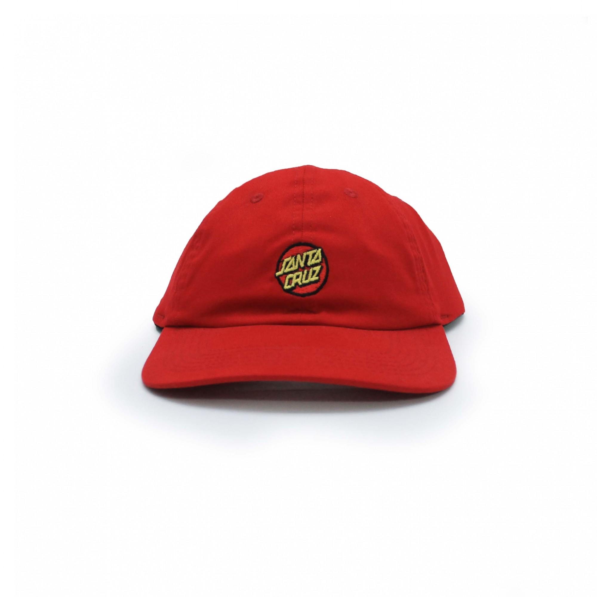 Boné Santa Cruz Dad Hat Classic Dot - Vermelho