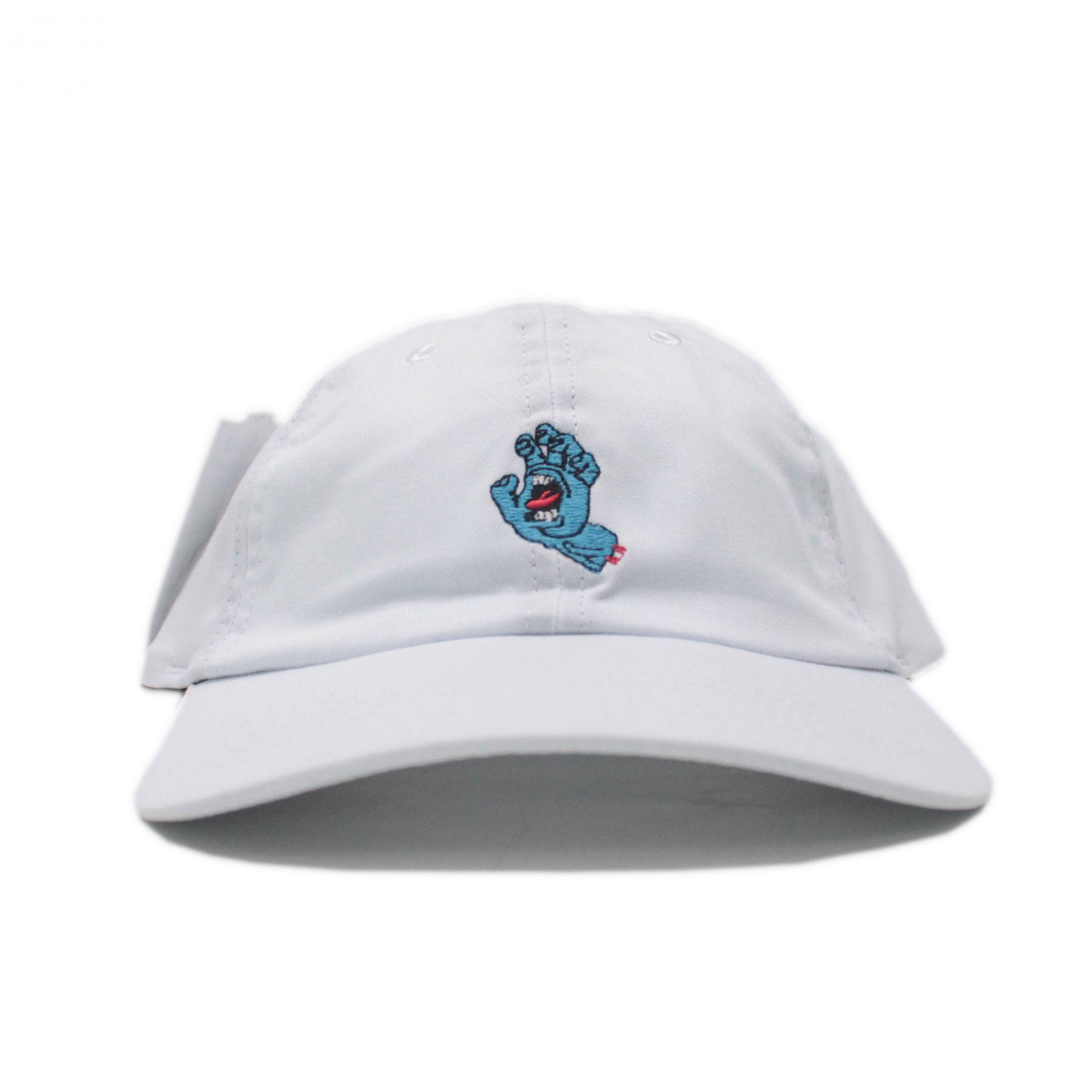 Boné Santa Cruz Dad Hat Screamin Hand Branco