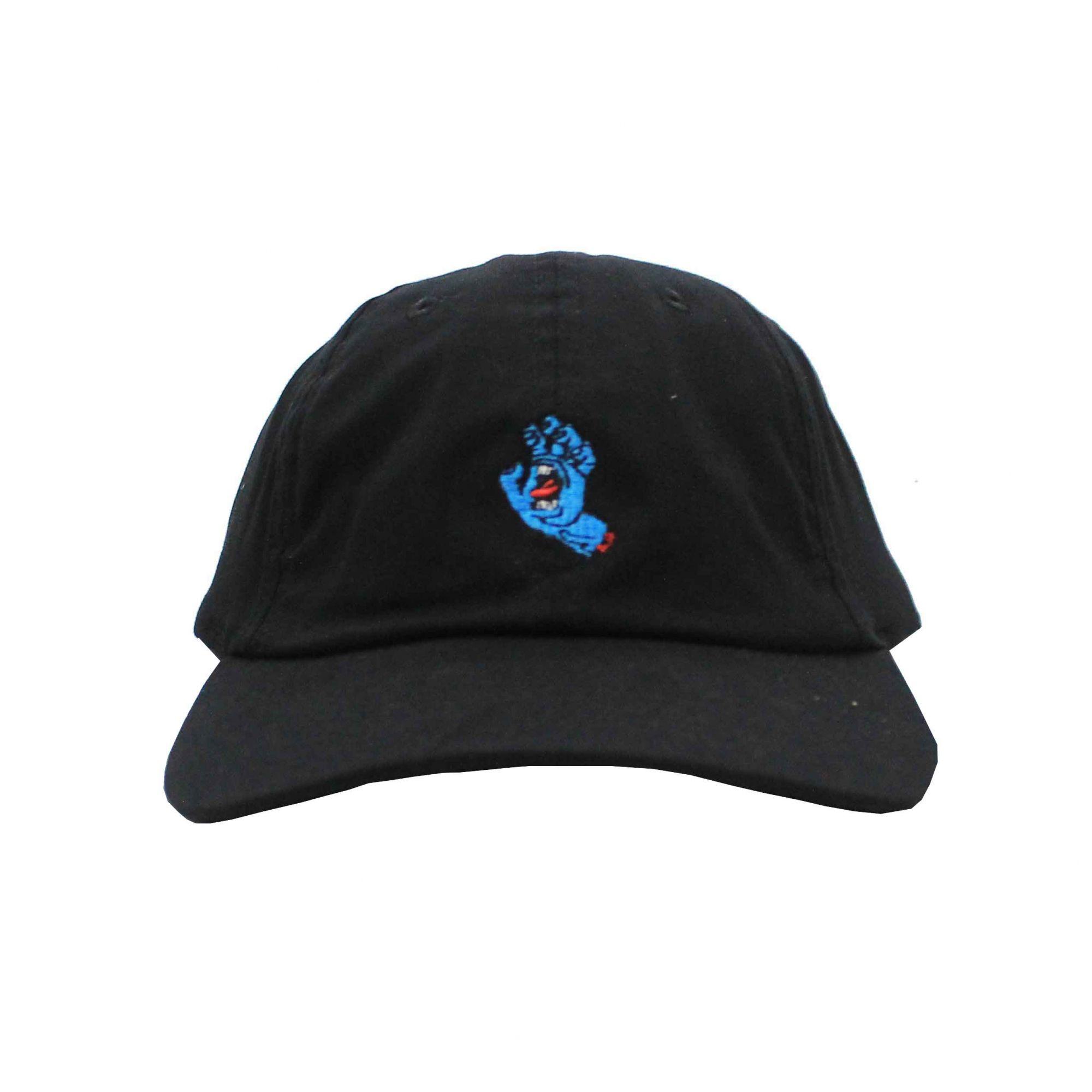 Boné Santa Cruz Dad Hat Screaming Hand - Preto