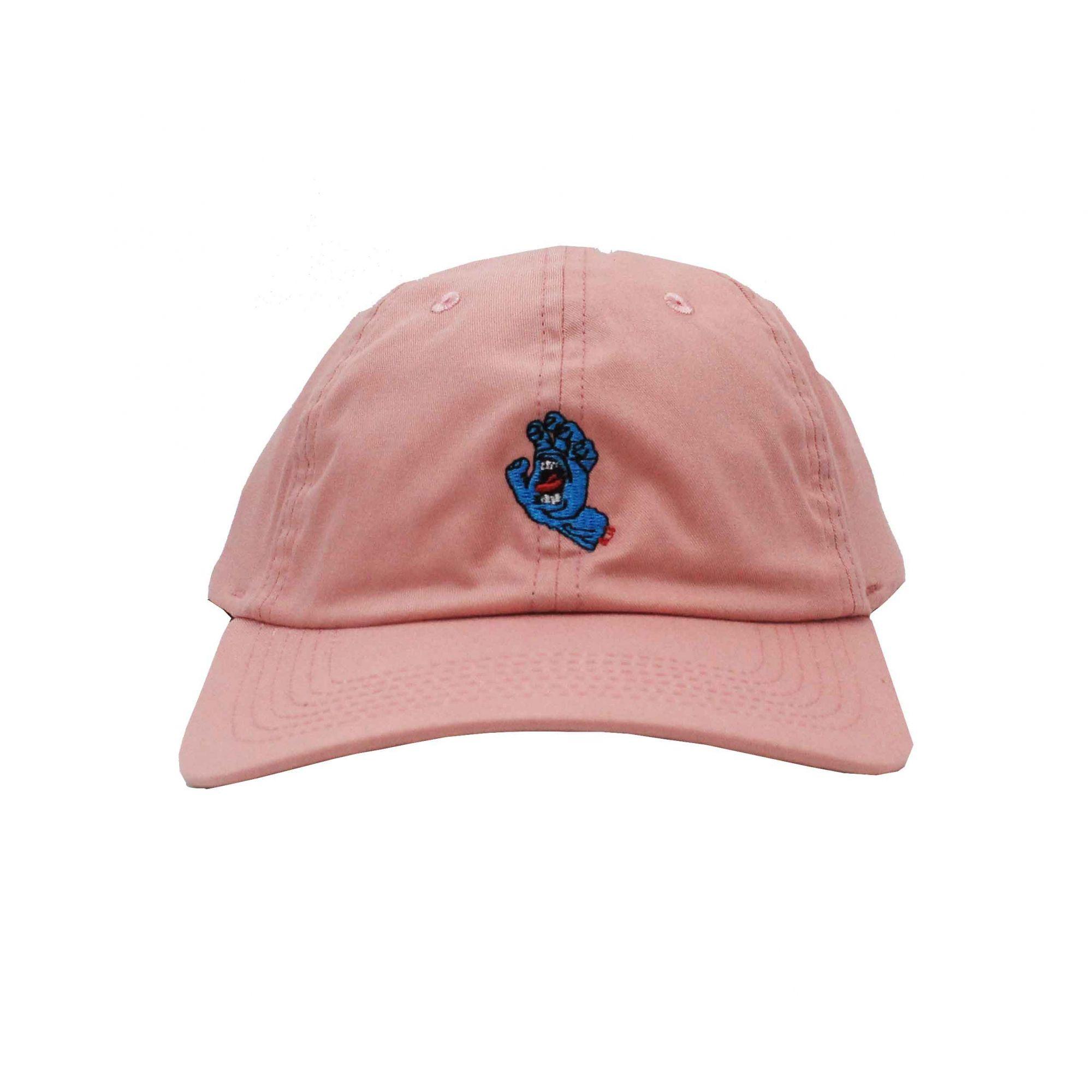 Boné Santa Cruz Dad Hat Screaming Hand - Rosa