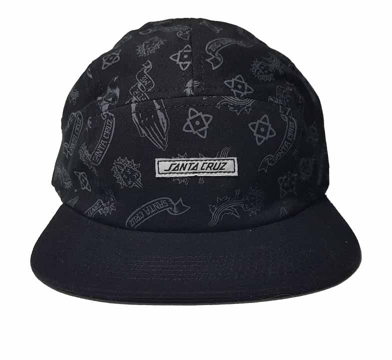 Boné Santa Cruz  Five Panel Pray Pattern Black