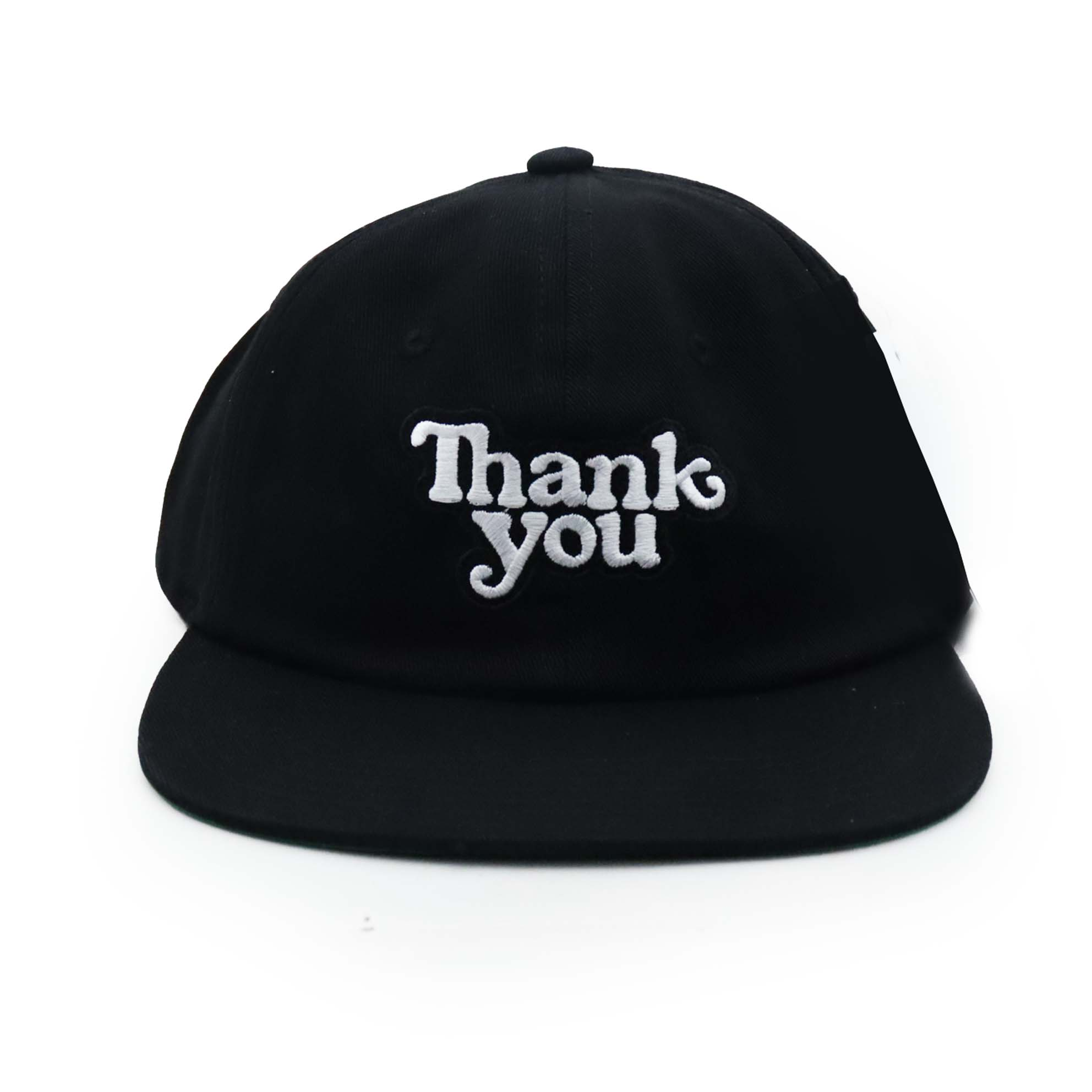 Boné Thank You Snapback Aba Reta Logo - Preto