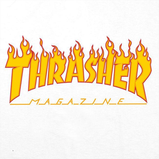 Boné Thrasher Magazine Dad Hat Flame White