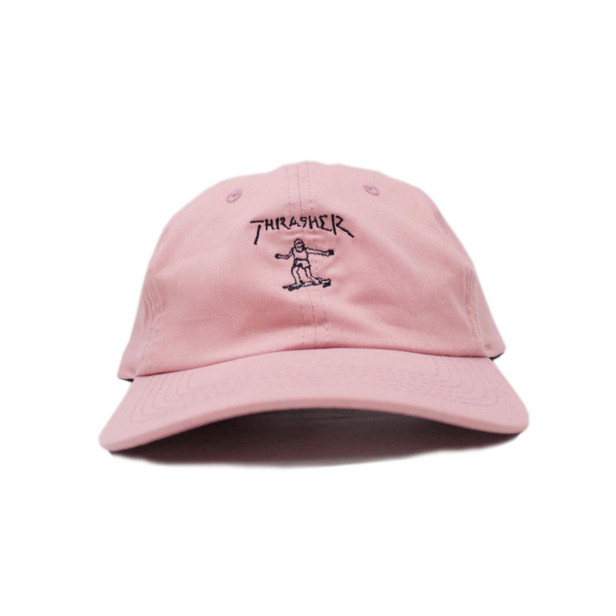 Boné Thrasher Magazine Dad Hat Gonz Old Timer Rosa