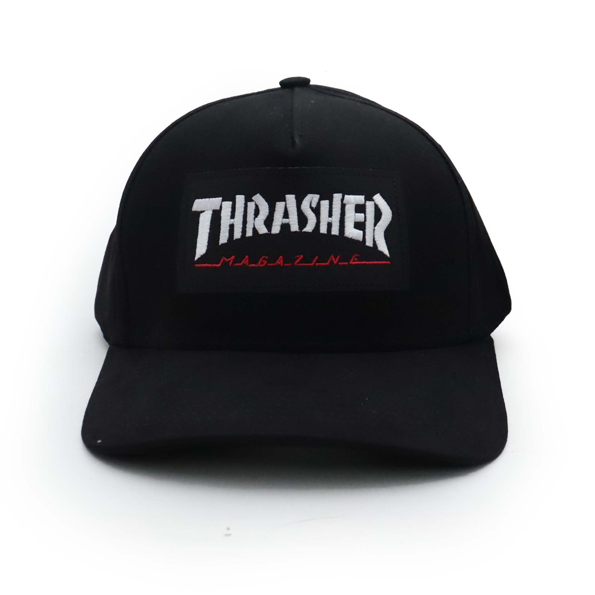 Boné Thrasher Magazine Dad Hat Logo Patch - Preto
