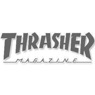 Boné Thrasher Magazine Five Panel Flame Outline Black
