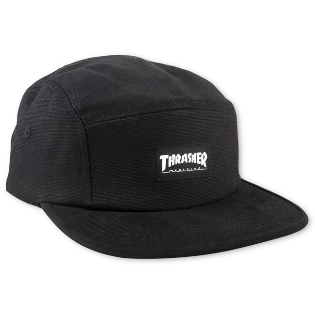 Boné Thrasher Magazine Five Panel Mag Logo Black