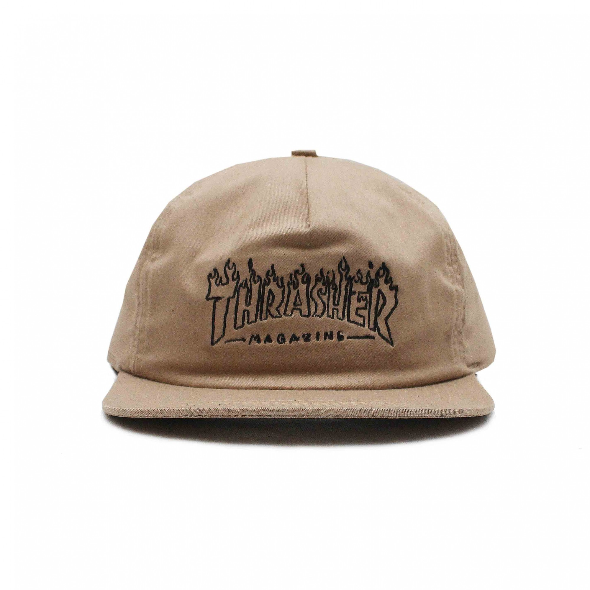 Boné Thrasher Magazine Snapback Drunk Witch - Caqui