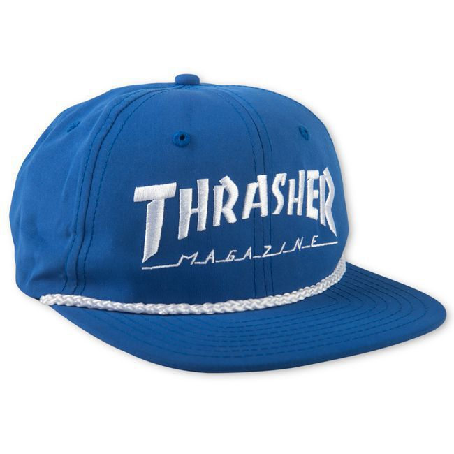 Boné Thrasher Magazine Snapback Logo Rope - Azul