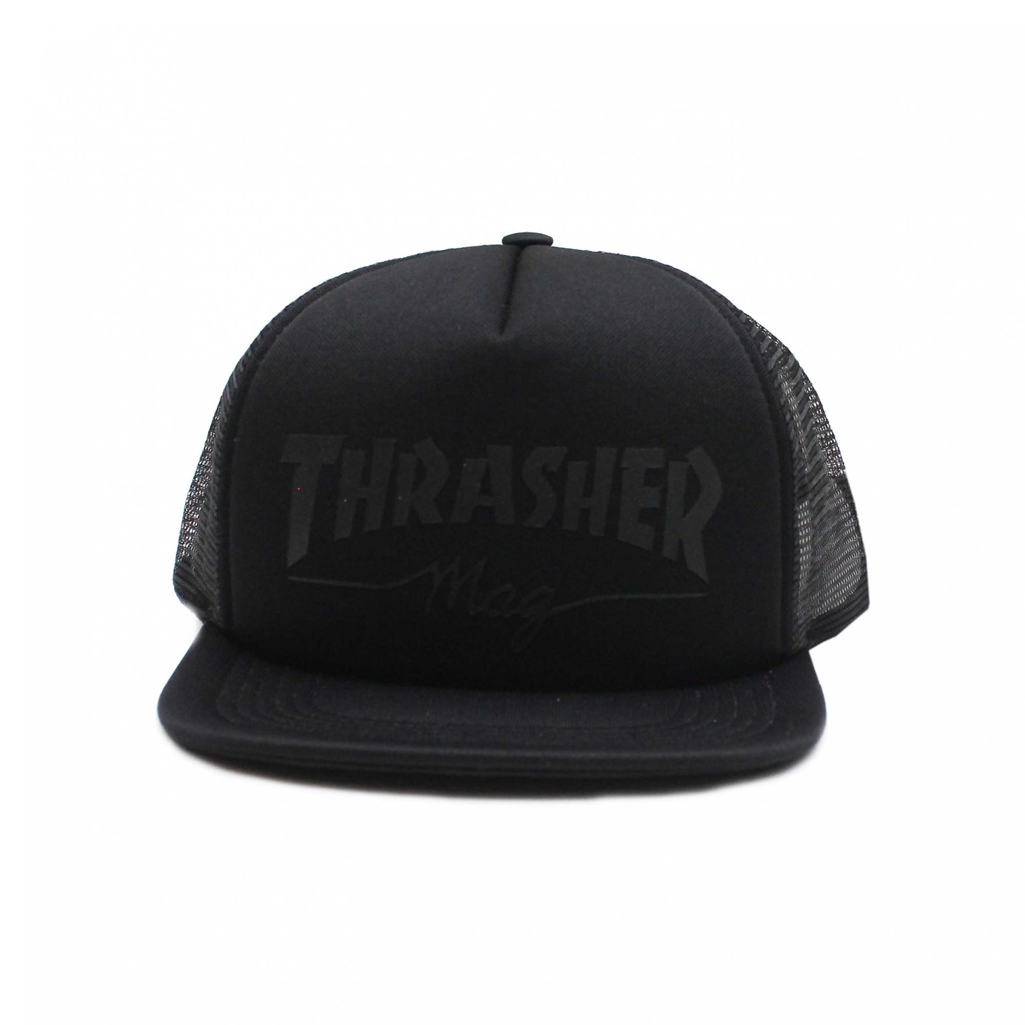 Boné Thrasher Magazine Trucker Girls Mag Logo - Preto/Preto
