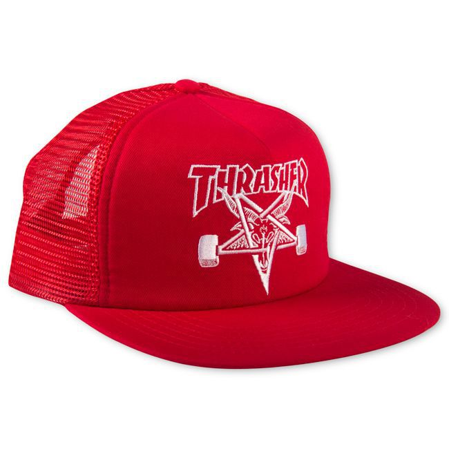 Boné Thrasher Magazine Trucker Skate Goat Red