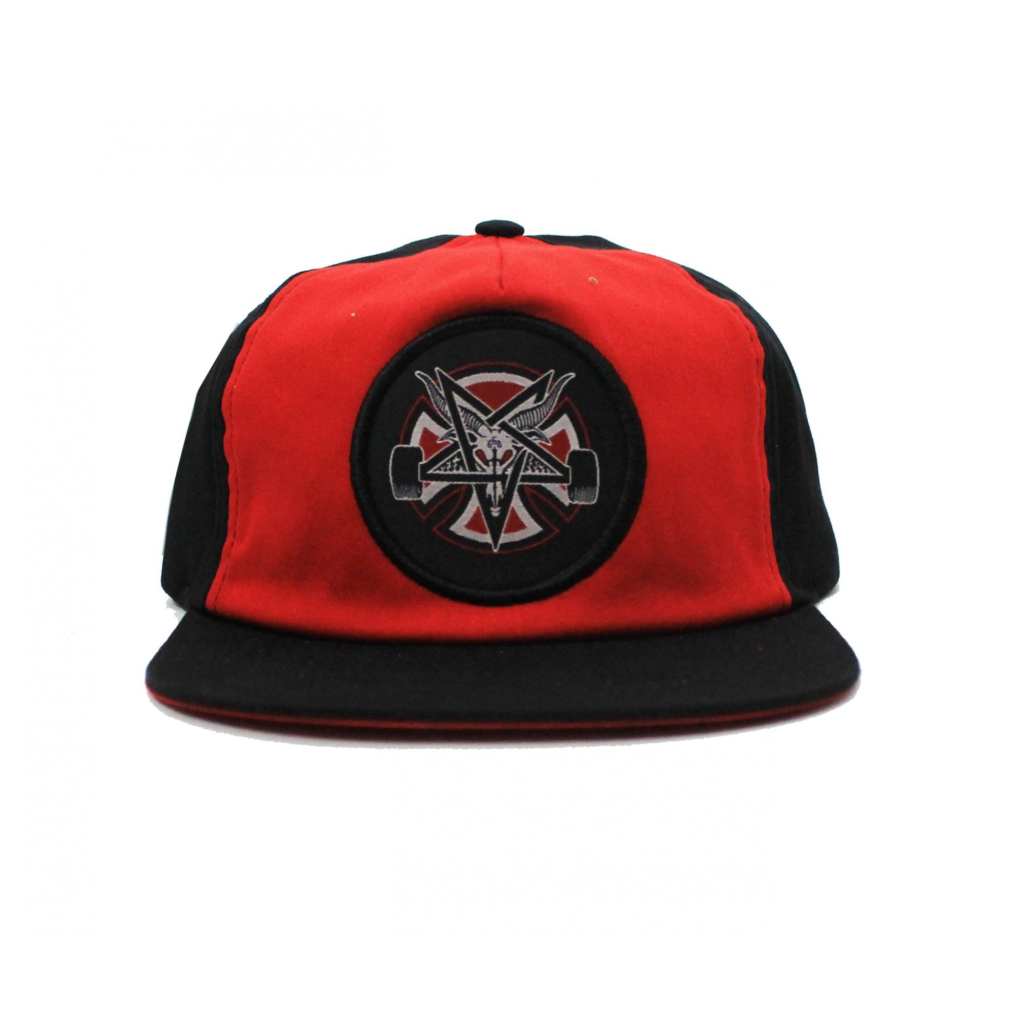 Boné Thrasher Magazine x Independent Snapback Pentagram Cross Red