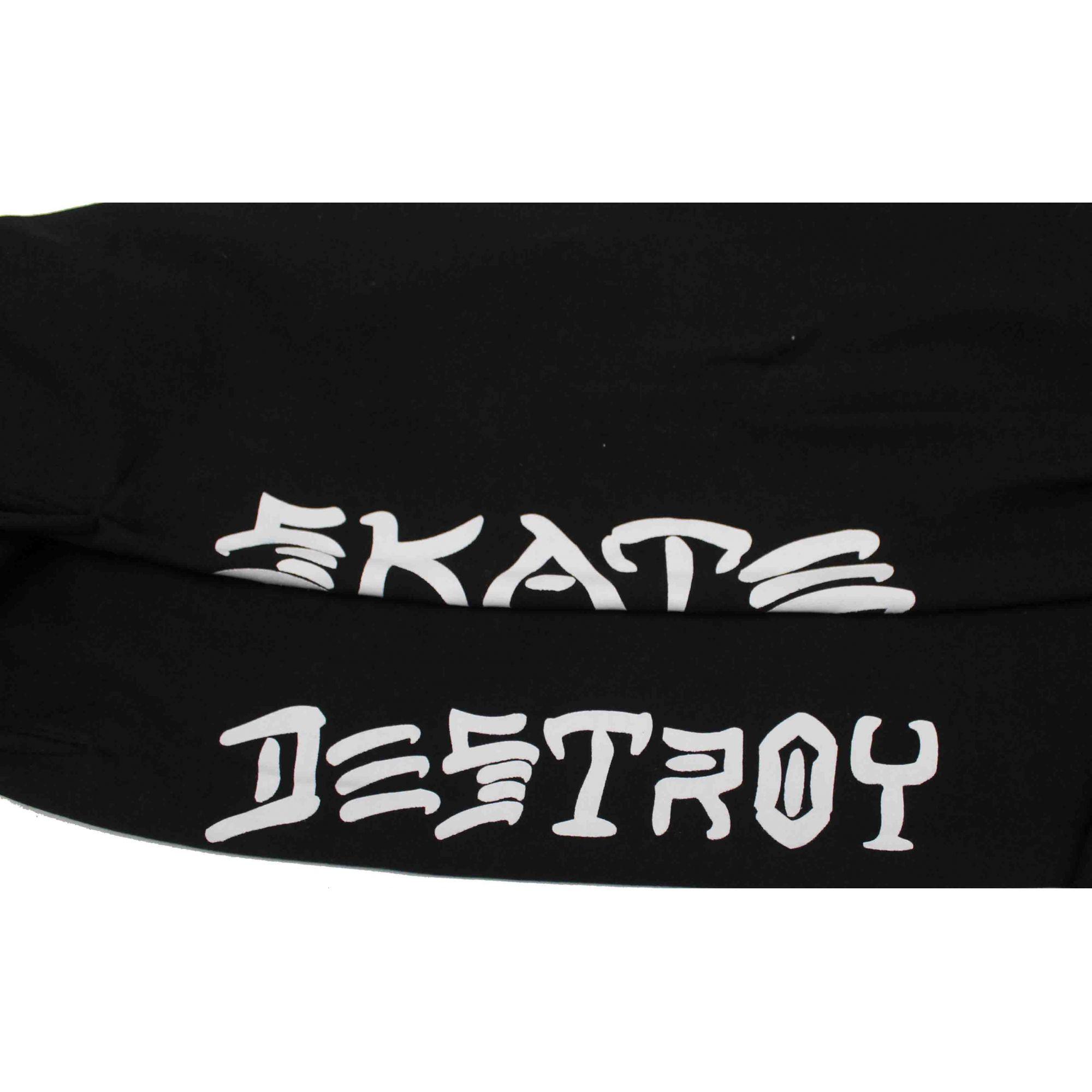 Calça Moletom Thrasher Magazine Skate and Destroy Black
