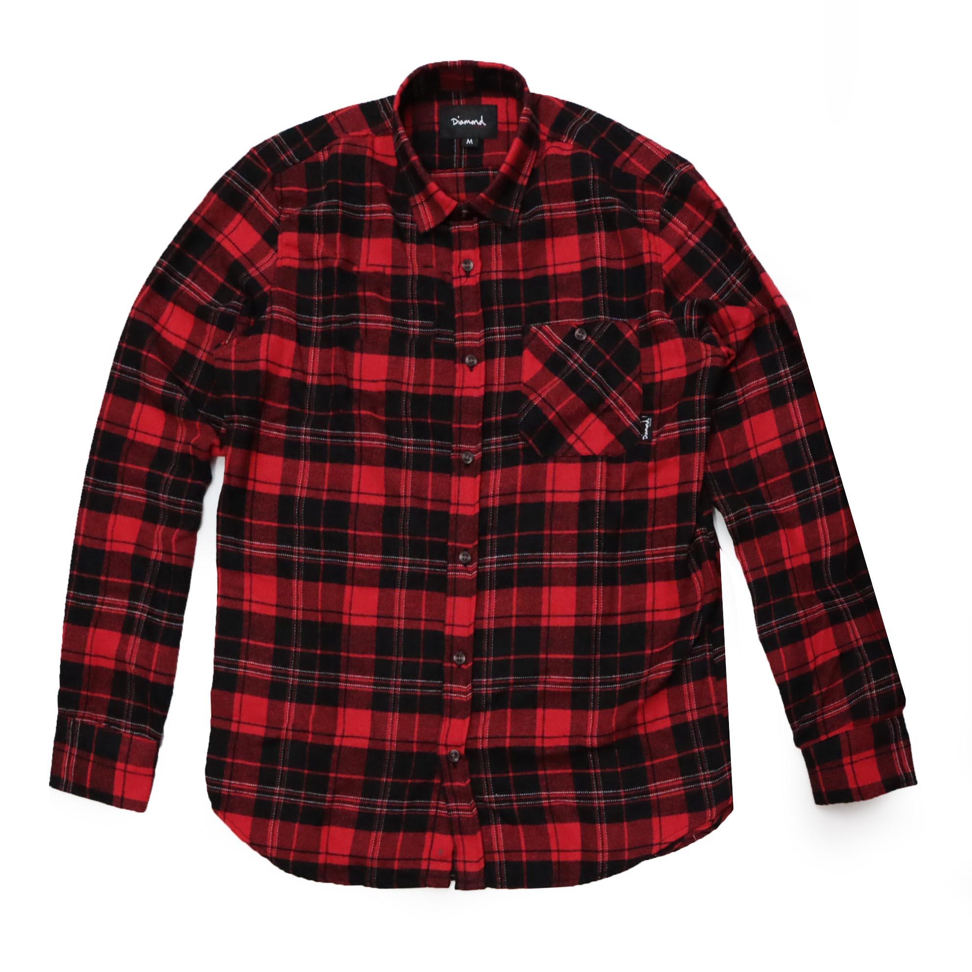 Camisa Flanela Diamond Flannel - Vermelho