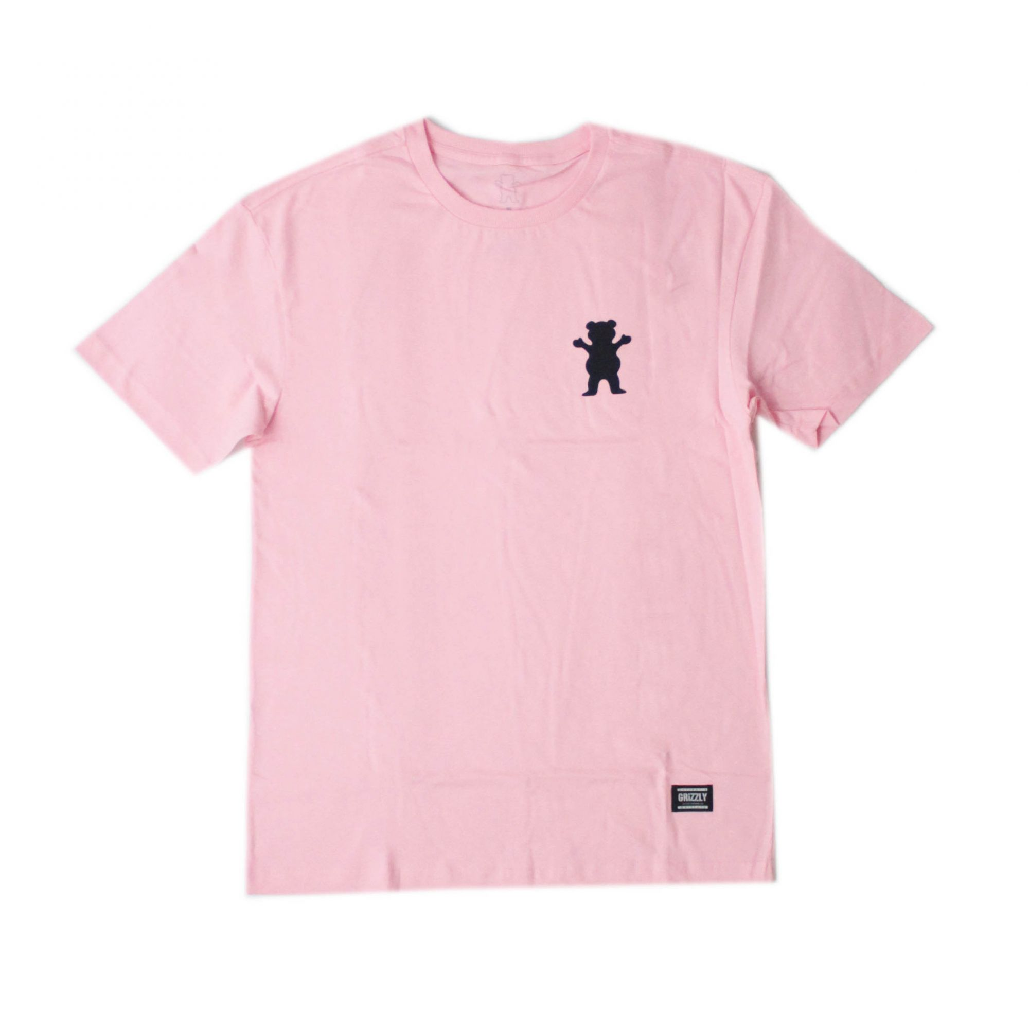 Camisa Grizzly Og Mini Bear Rosa/Preto
