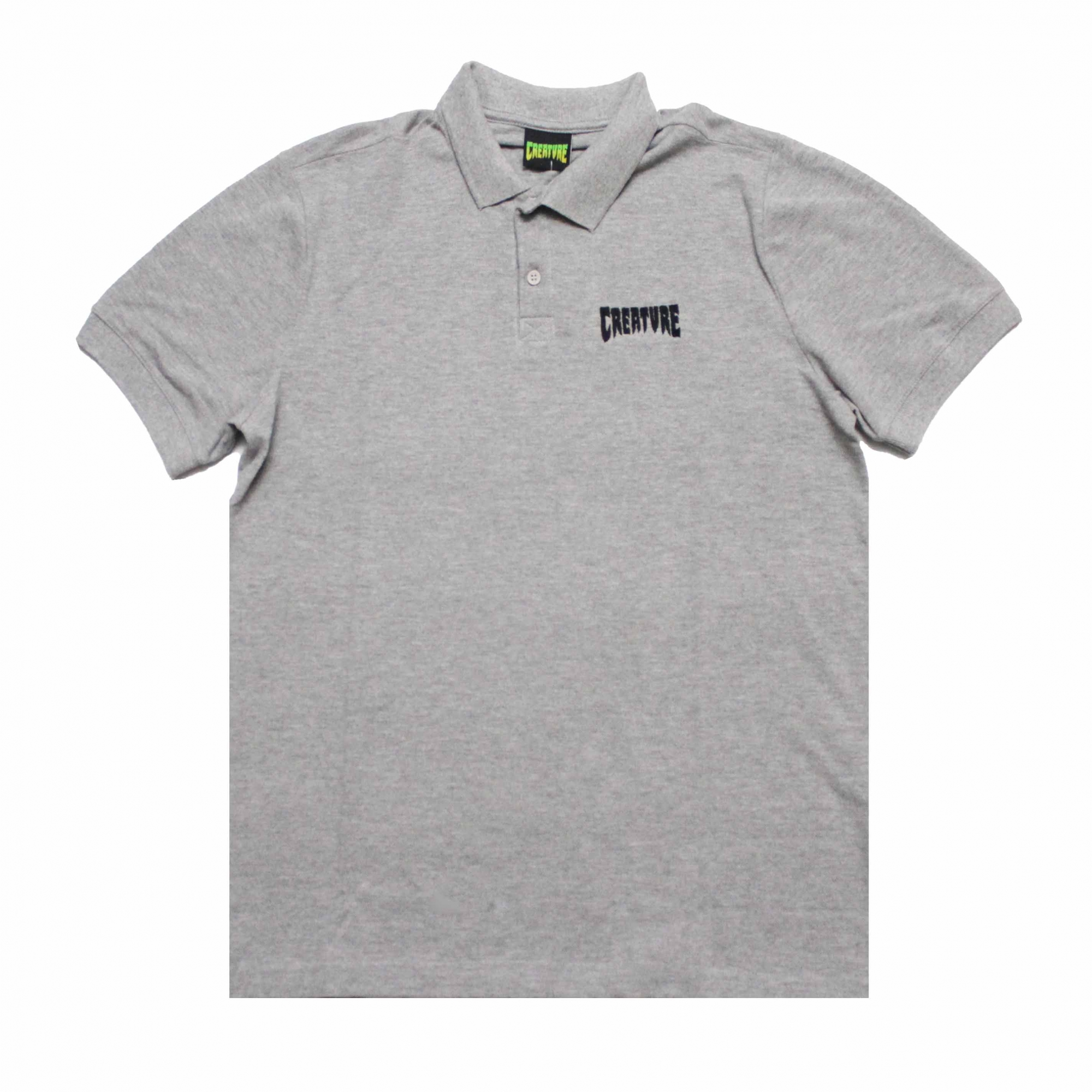 Camisa Polo Creature Mini Logo Bordado - Cinza Mescla