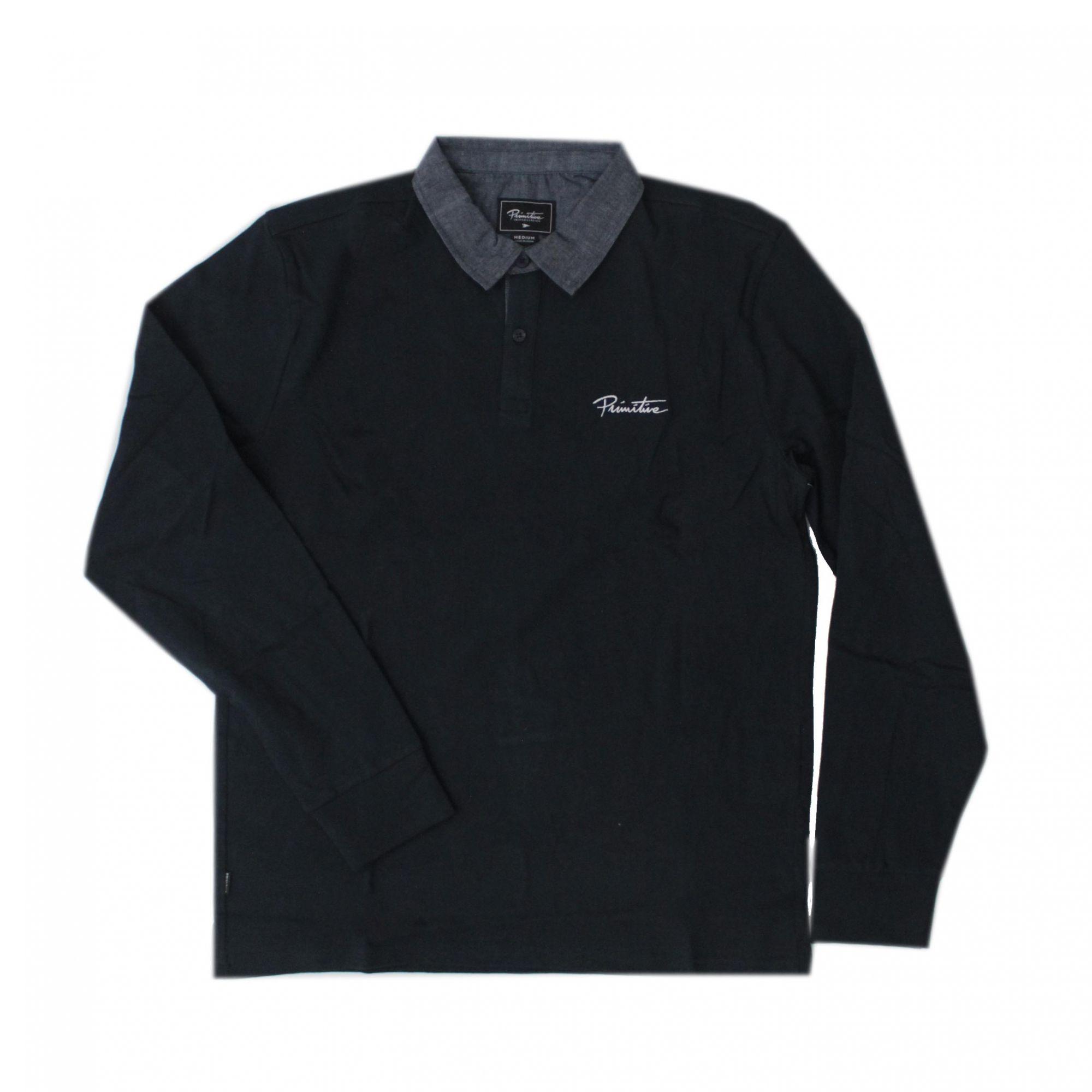 Camisa Polo Primitive Solid Rugby - Azul Marinho (Importado)