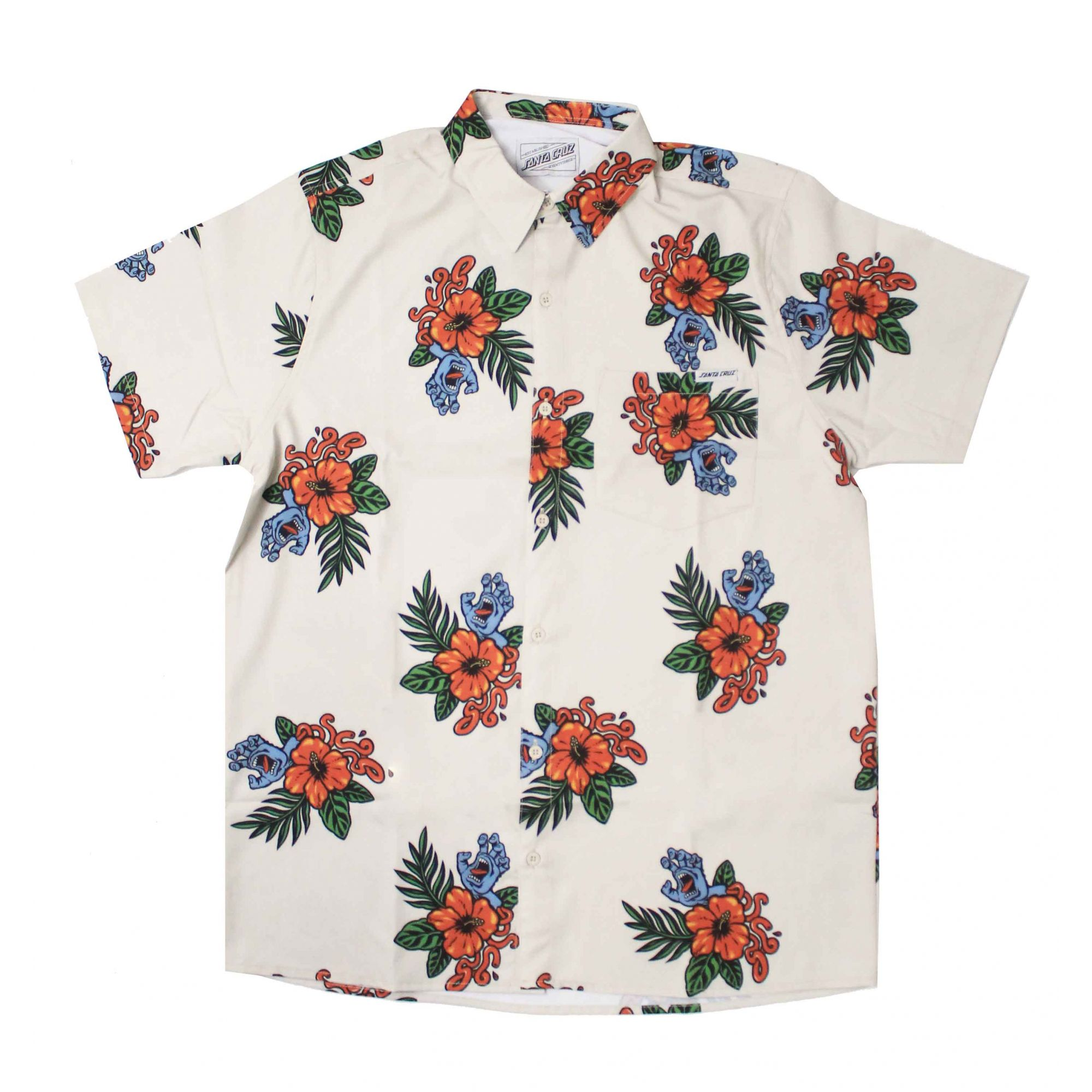 Camisa Santa Cruz Vacation Hand Pattern Areia