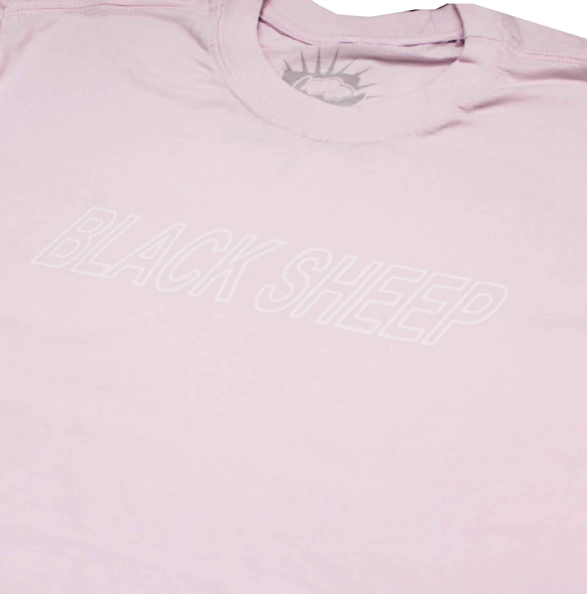 Camiseta Black Sheep Script Logo Pink