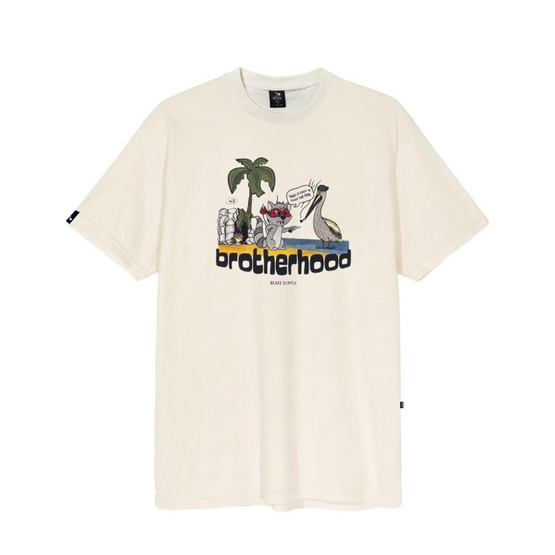 Camiseta Blaze Brotherhood - Creme