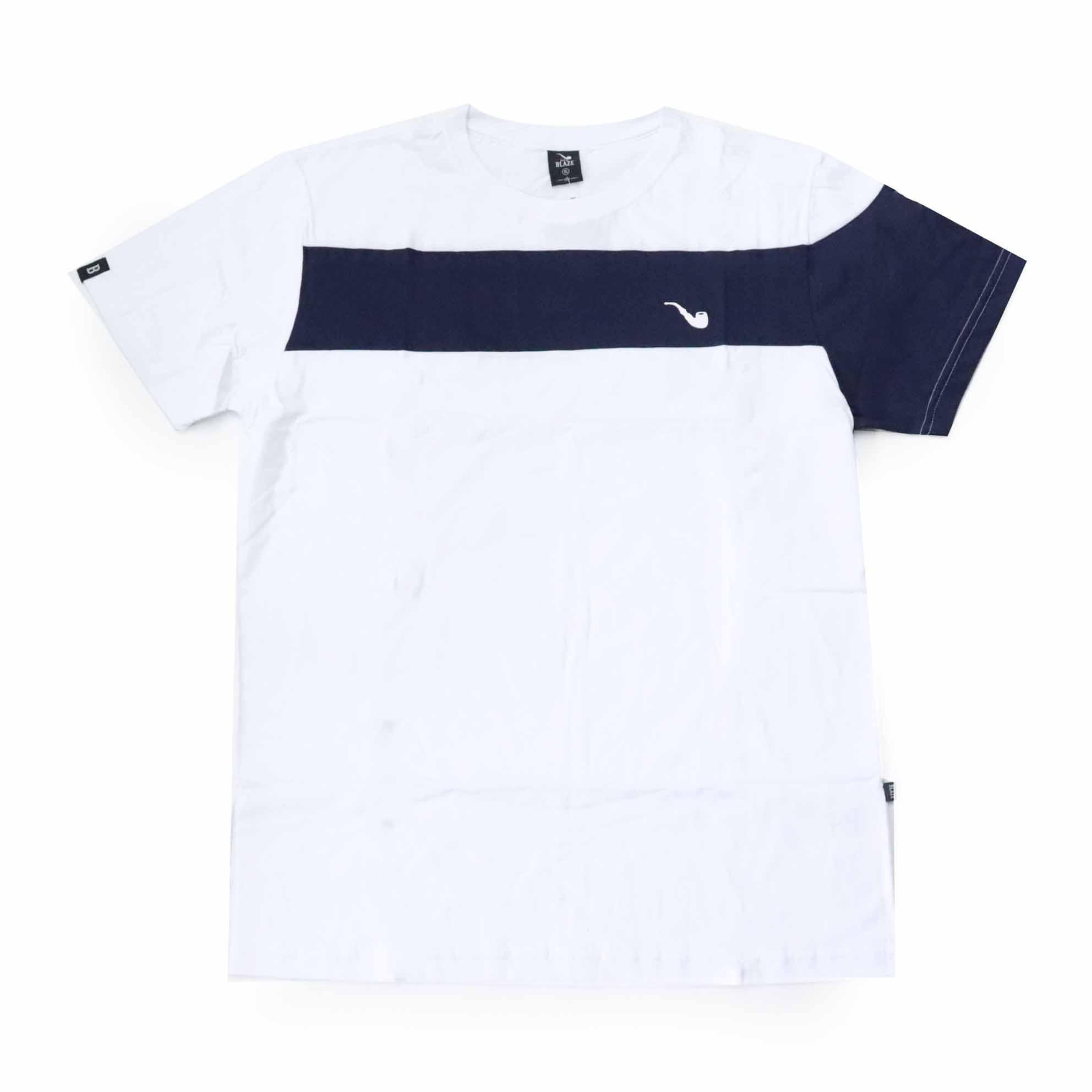 Camiseta Blaze Sash & Sleeve - Branco/Azul