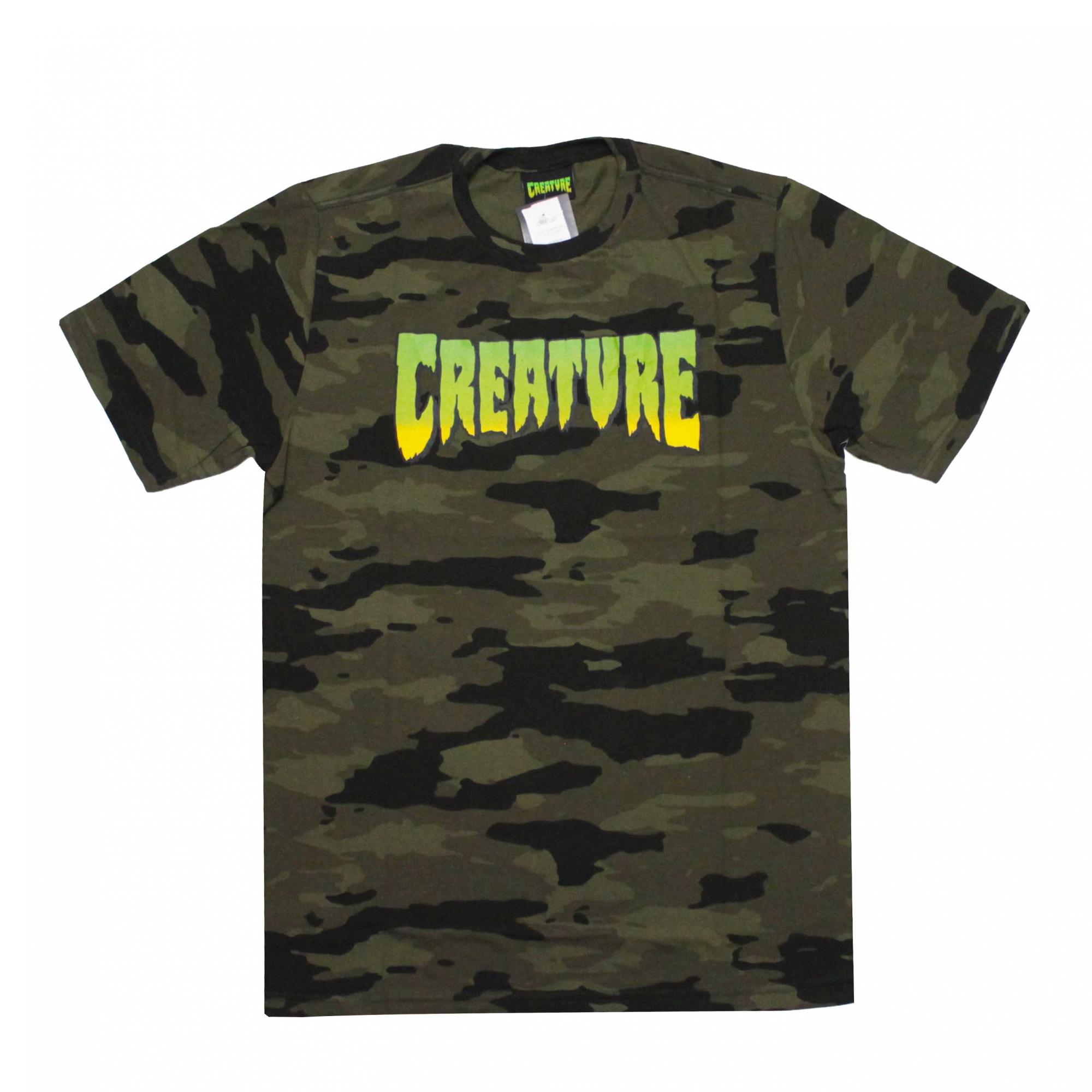 Camiseta Creature Classic Logo - Camuflado Verde