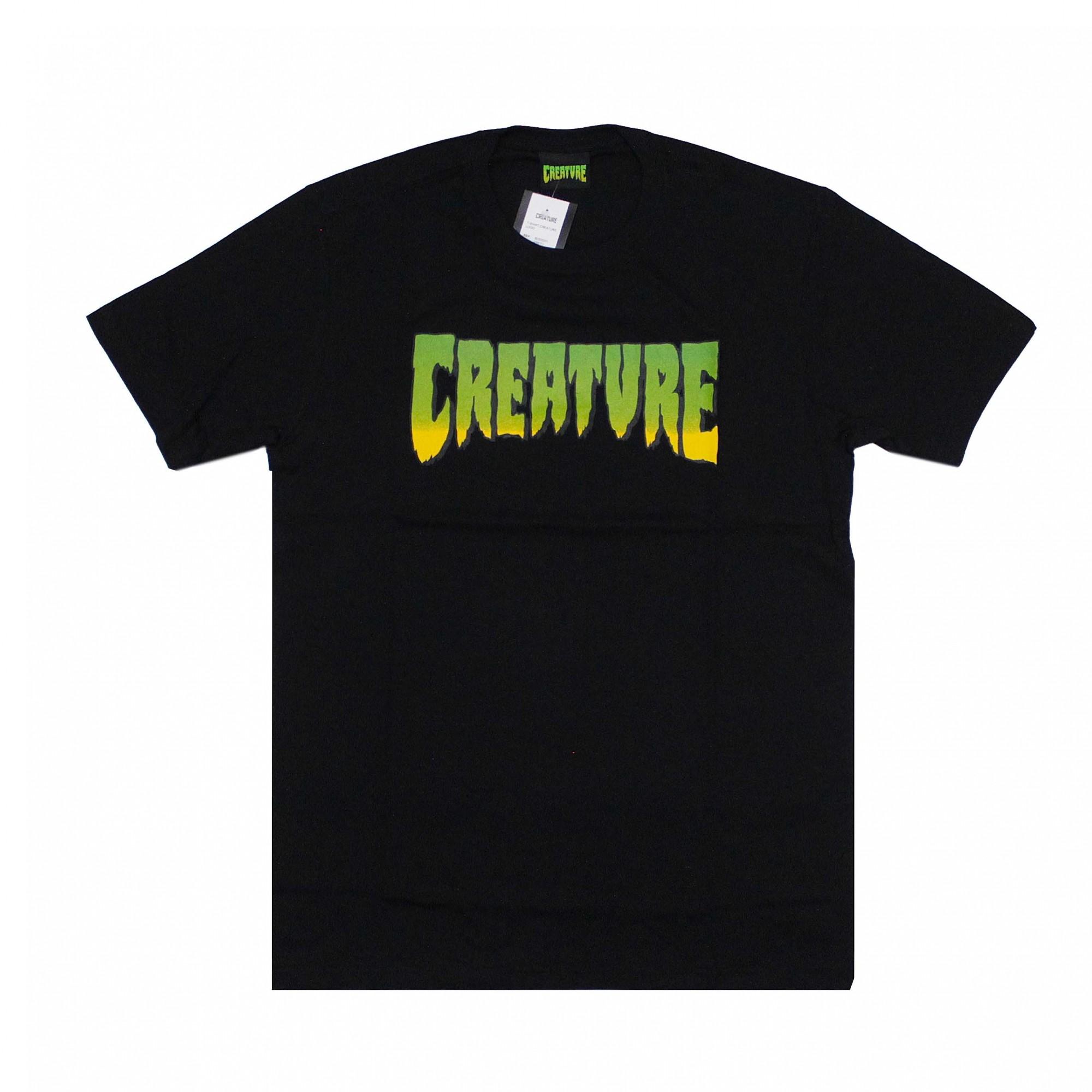 Camiseta Creature Classic Logo - Preto