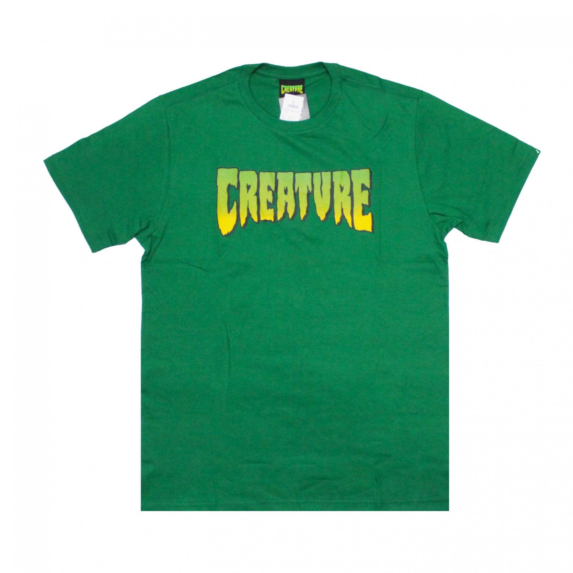 Camiseta Creature Classic Logo Verde