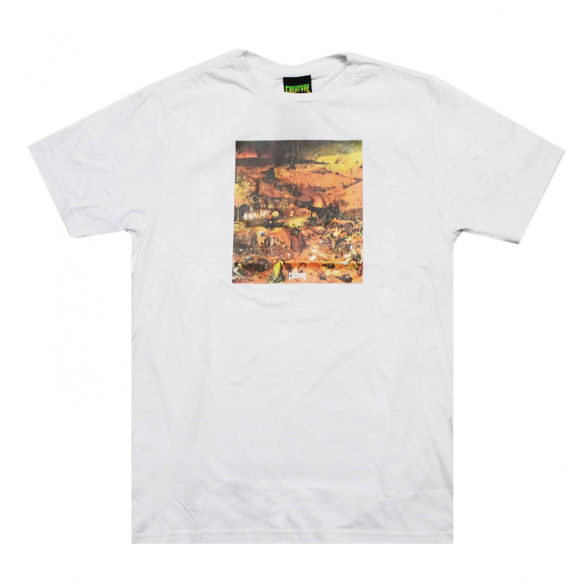 Camiseta Creature Death Rides Branco