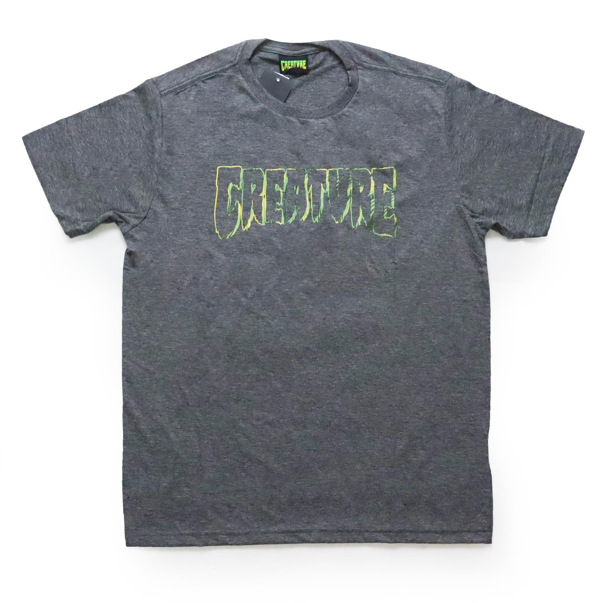 Camiseta Creature Psych Outline - Chumbo Mescla