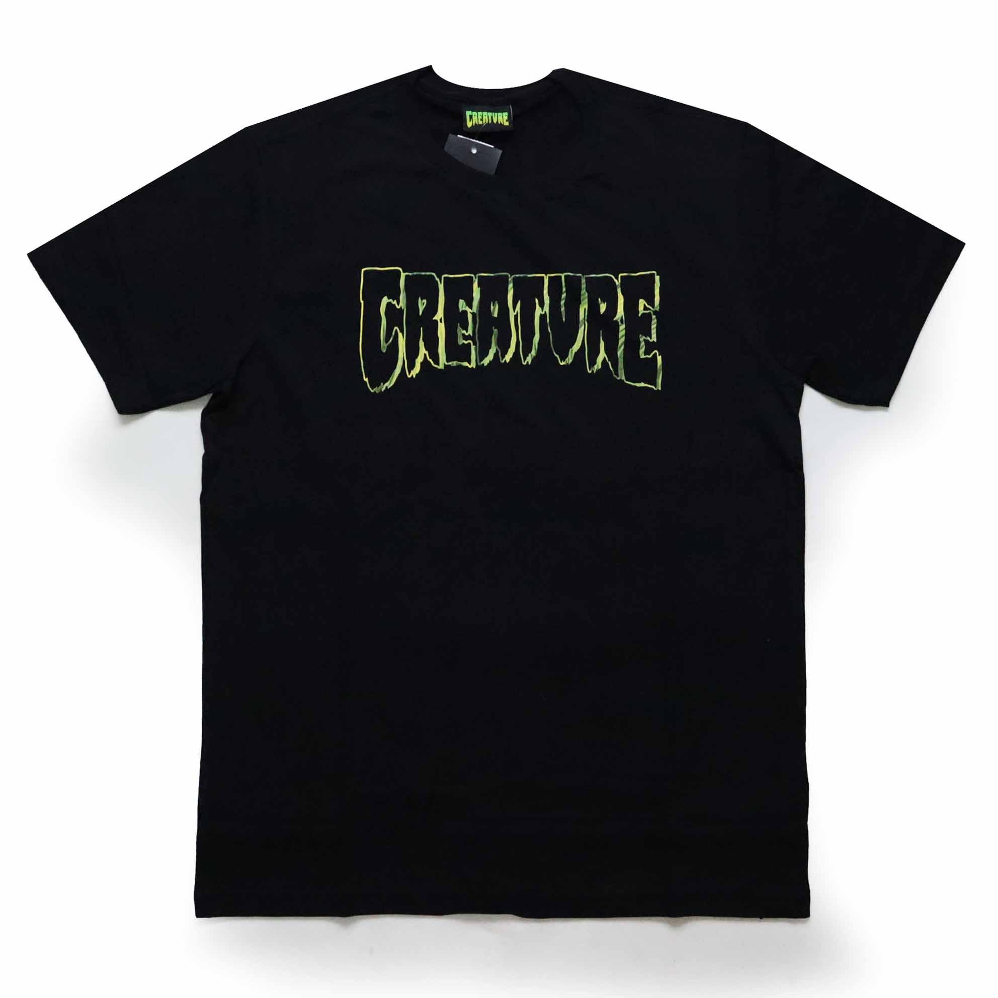 Camiseta Creature Psych Outline - Preto