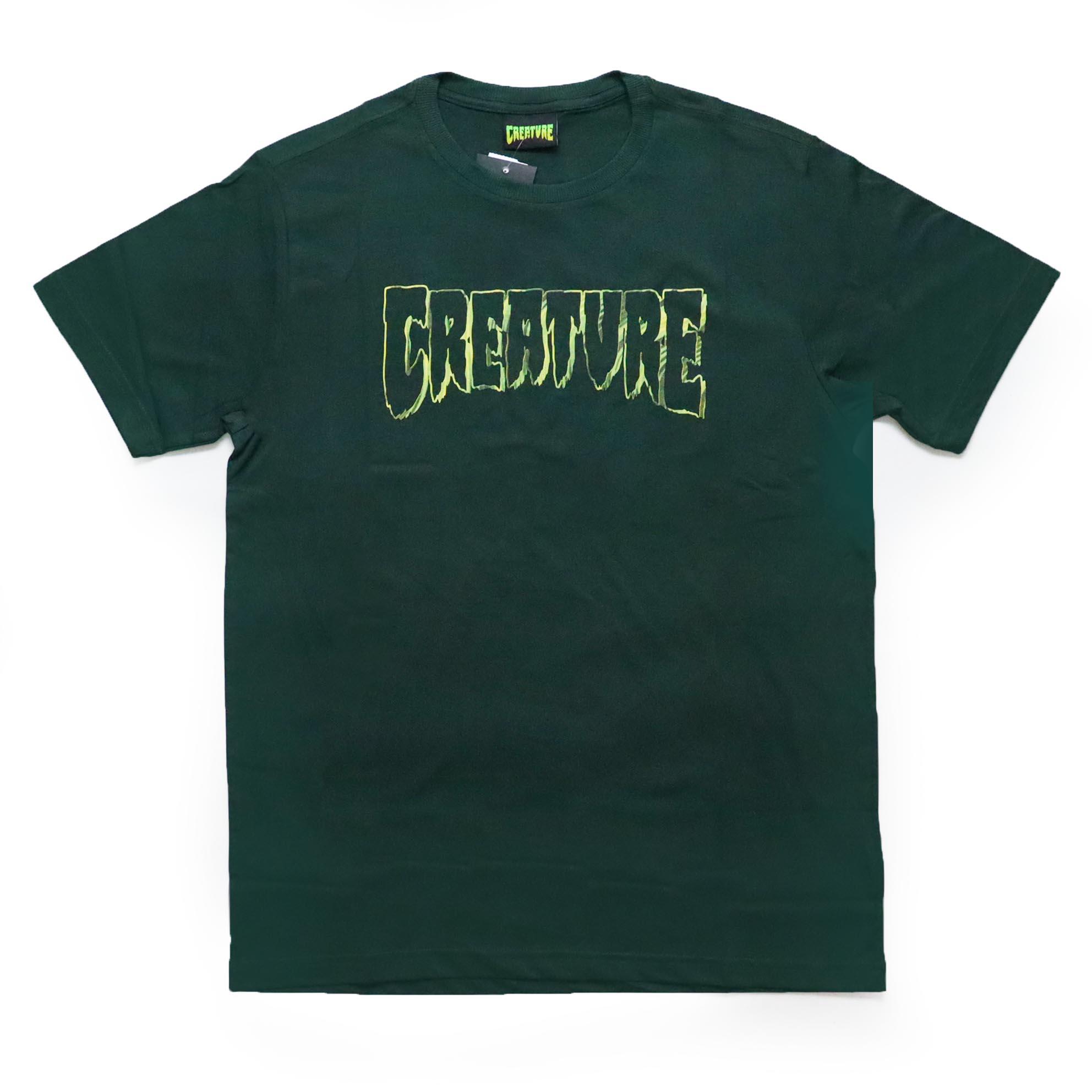 Camiseta Creature Psych Outline - Verde Musgo