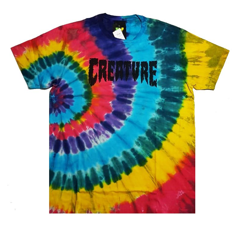 Camiseta Creature Shredded Tie Dye