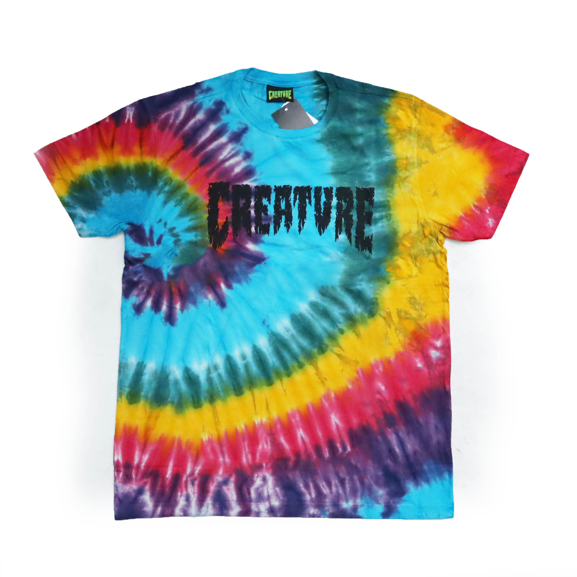 Camiseta Creature Shredded - Tie Dye Colorful