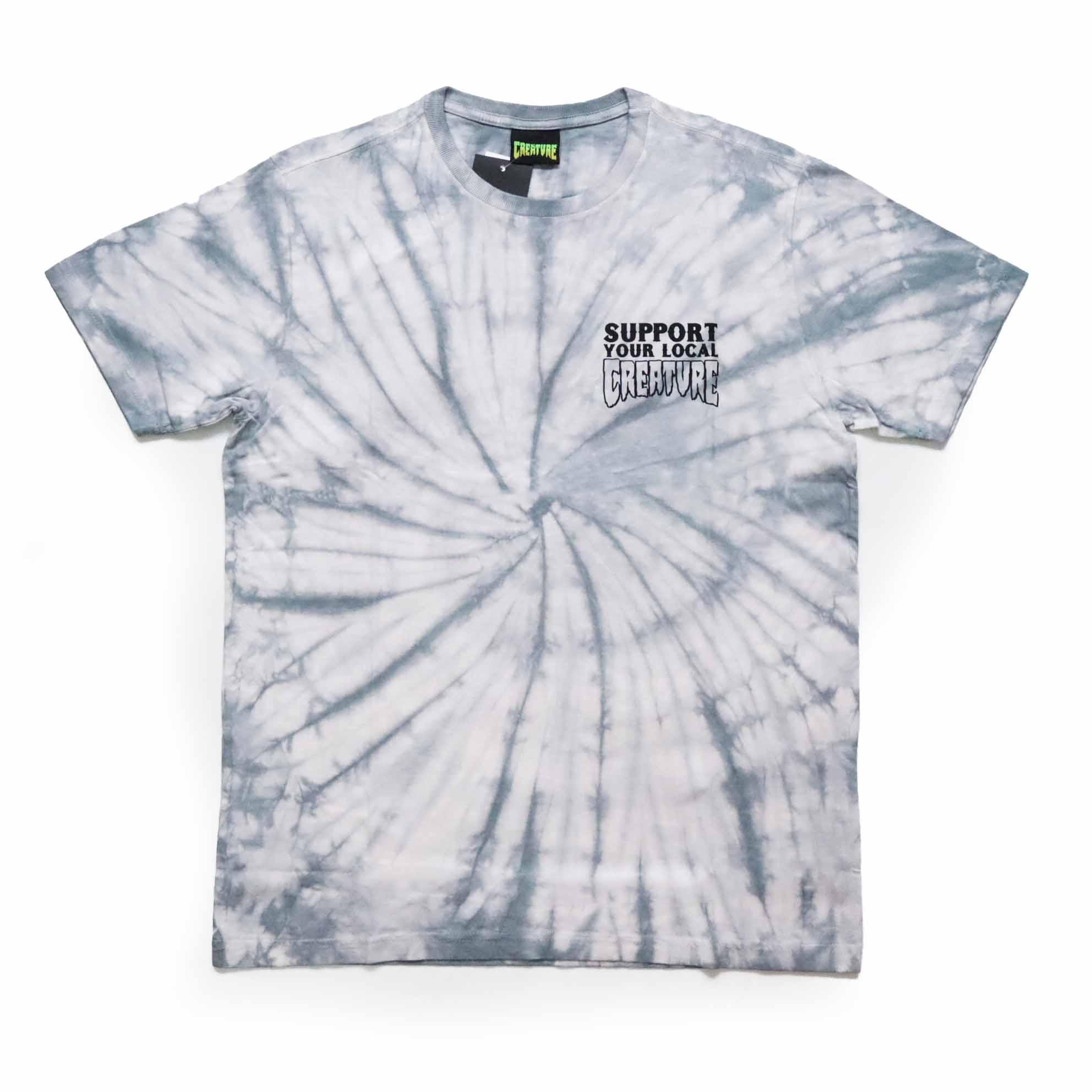 Camiseta Creature Support - Tie Dye Cinza