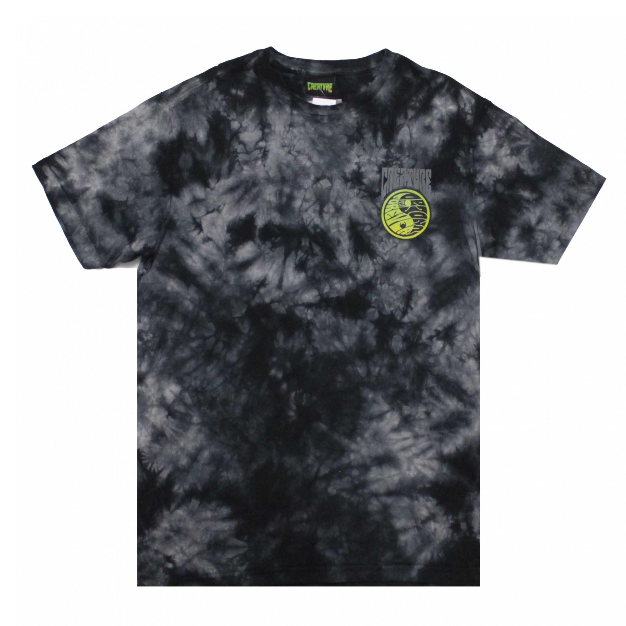 Camiseta Creature Yanger - Tie Dye Preto