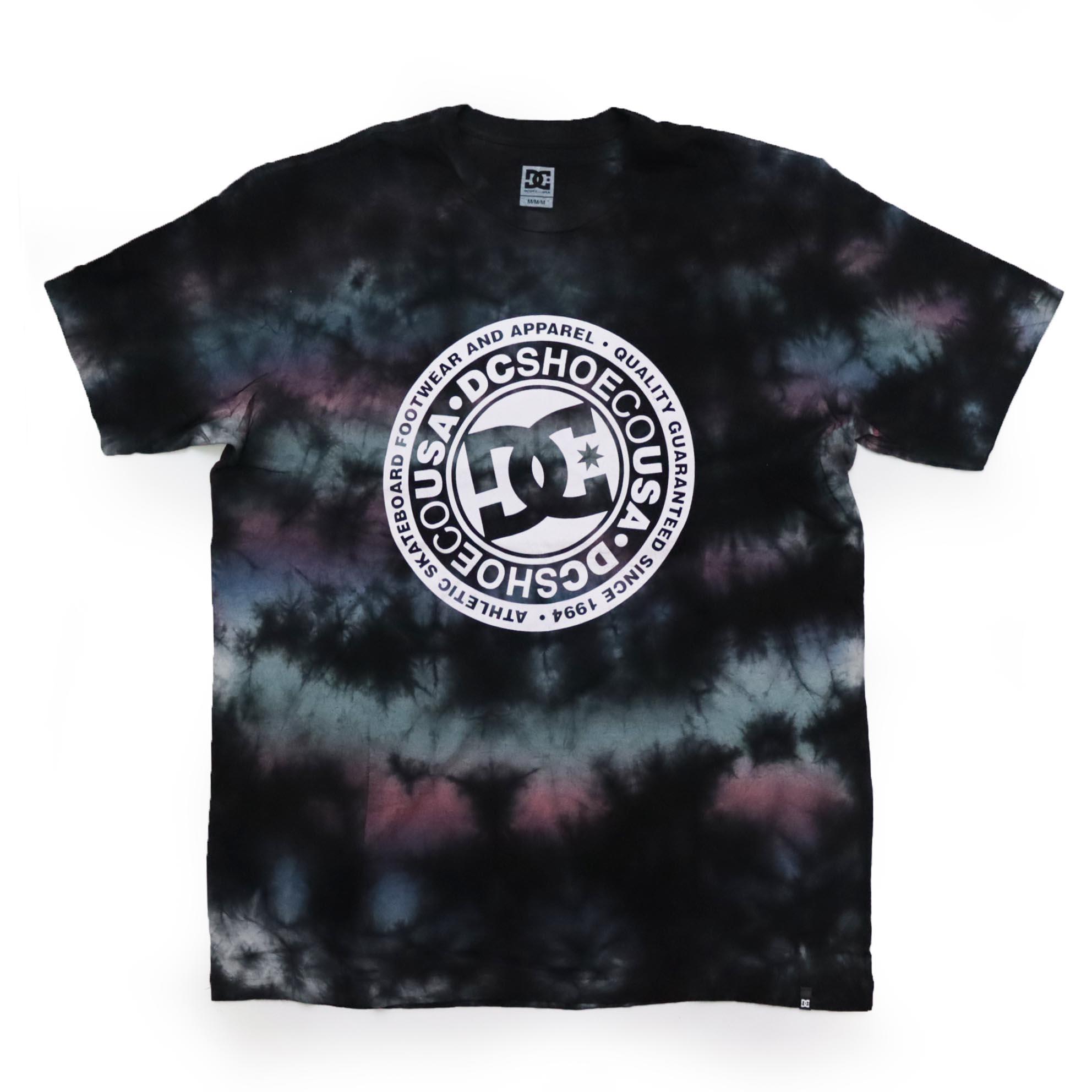 Camiseta DC Shoes Circle Back - Tie Dye Preto