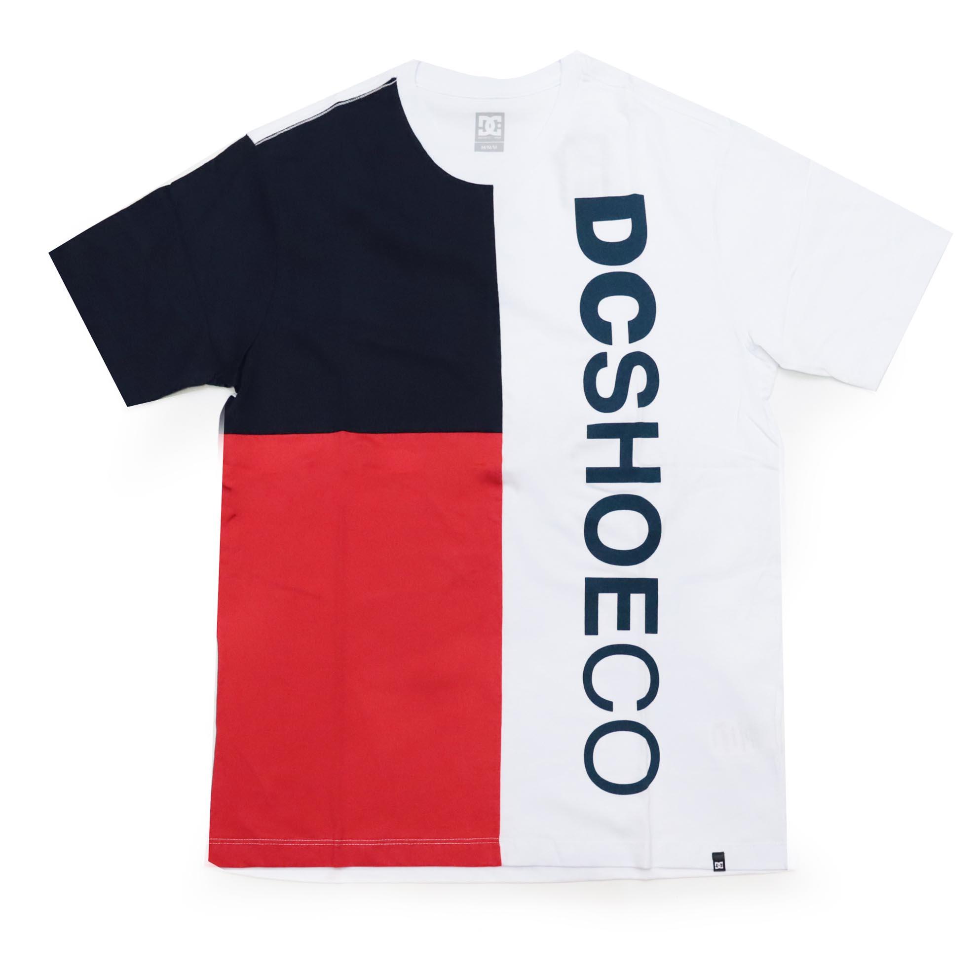 Camiseta DC Shoes Mawson - Azul Marinho/Vermelho/Branco