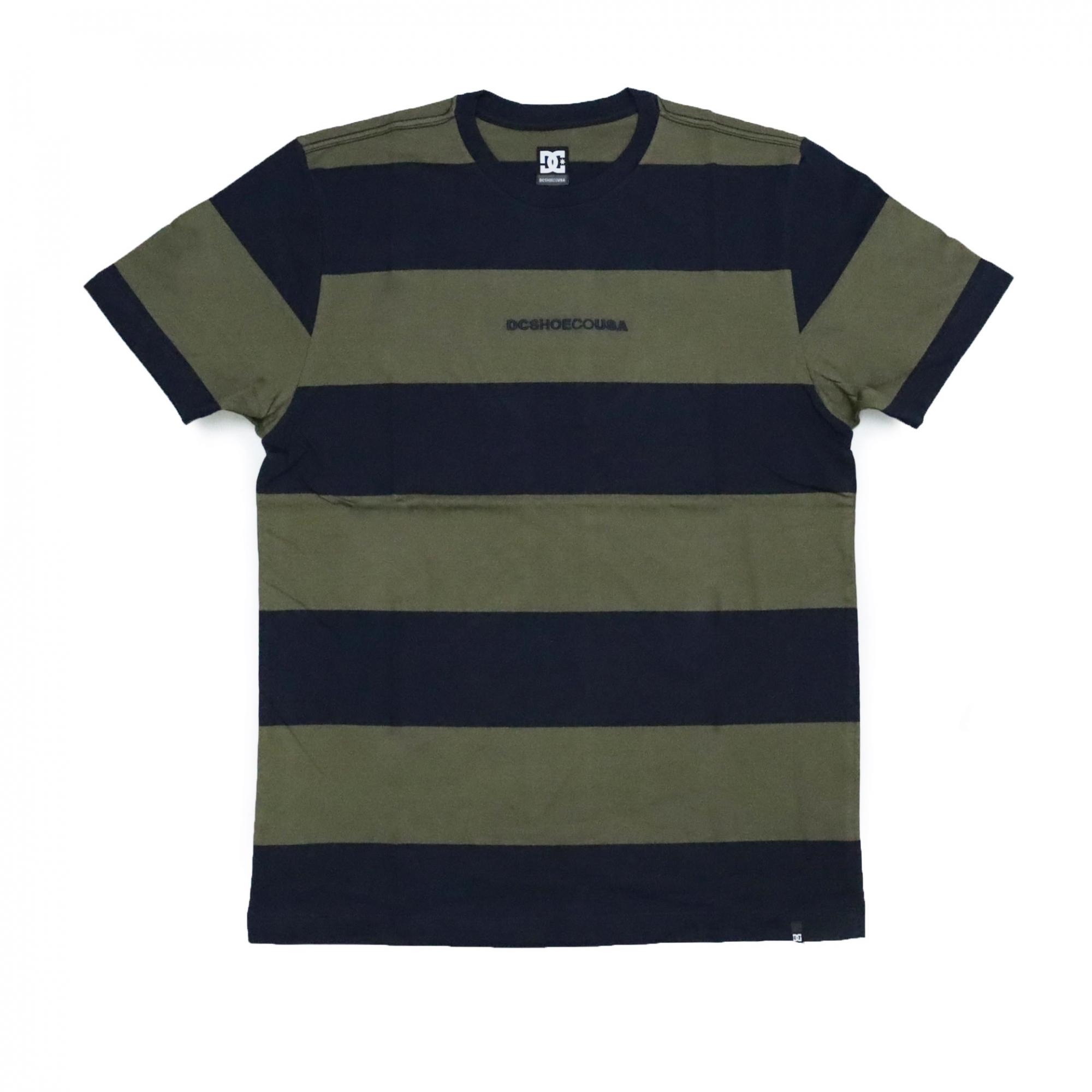 Camiseta DC Shoes Uptown Stripe - Verde/Azul Marinho