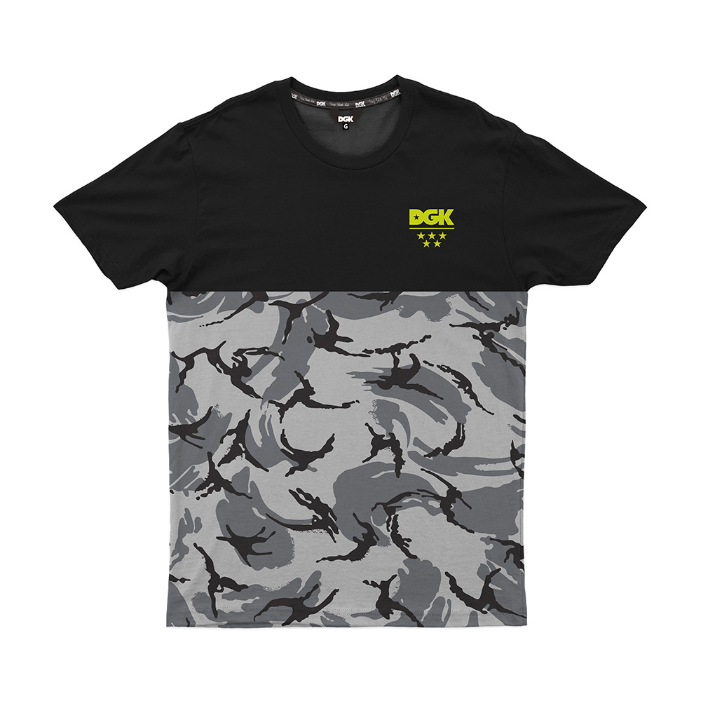 Camiseta DGK Disrupt - Preto/Camuflado